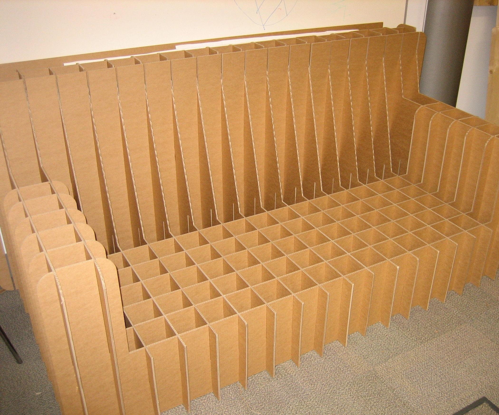 Cardboard Sofa: 5 Steps (With Pictures) In Cardboard Sofas (Image 10 of 20)