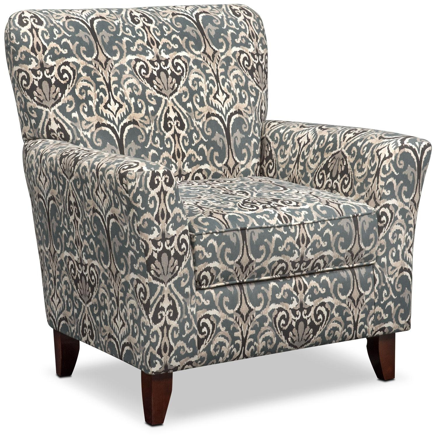 Carla Sofa And Accent Chair Set – Gray | Value City Furniture Throughout Sofa And Accent Chair Set (View 17 of 20)