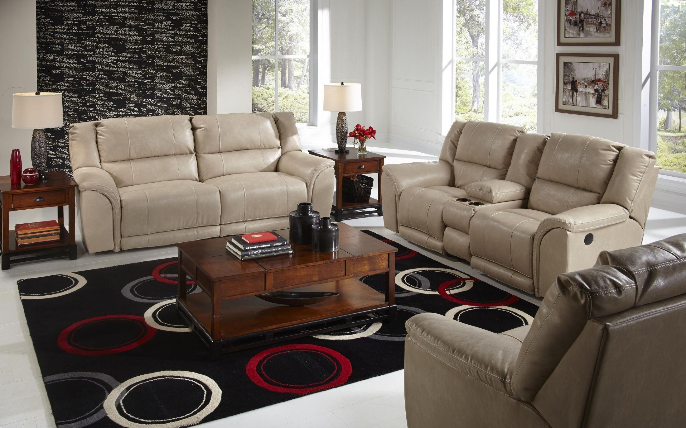 Carmine Pebble Power Reclining Living Room Set From Catnapper In Catnapper Sofas (Image 5 of 20)