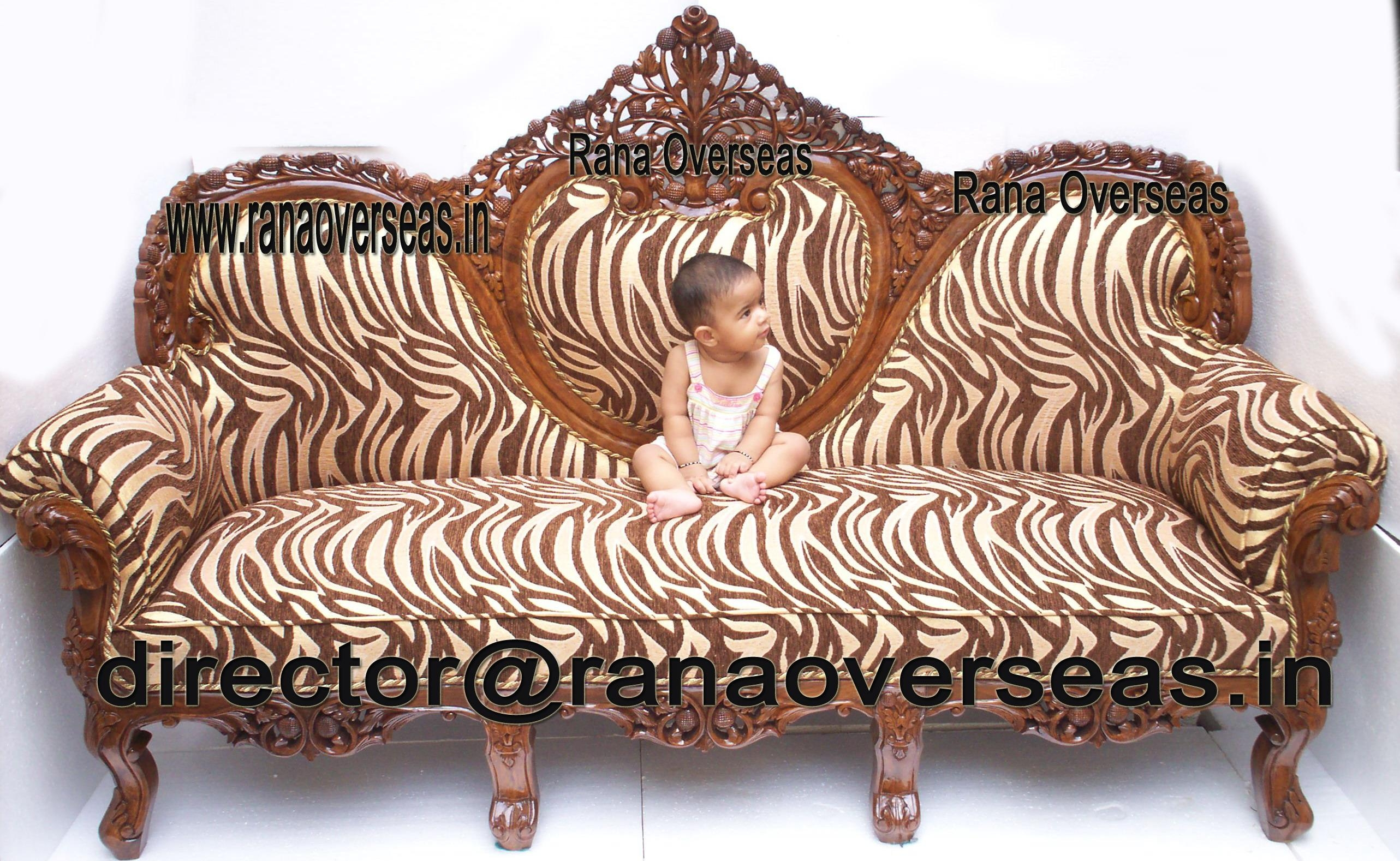 Carved Wood Sofa With Design Photo 37312 | Kengire With Regard To Carved Wood Sofas (Image 5 of 20)