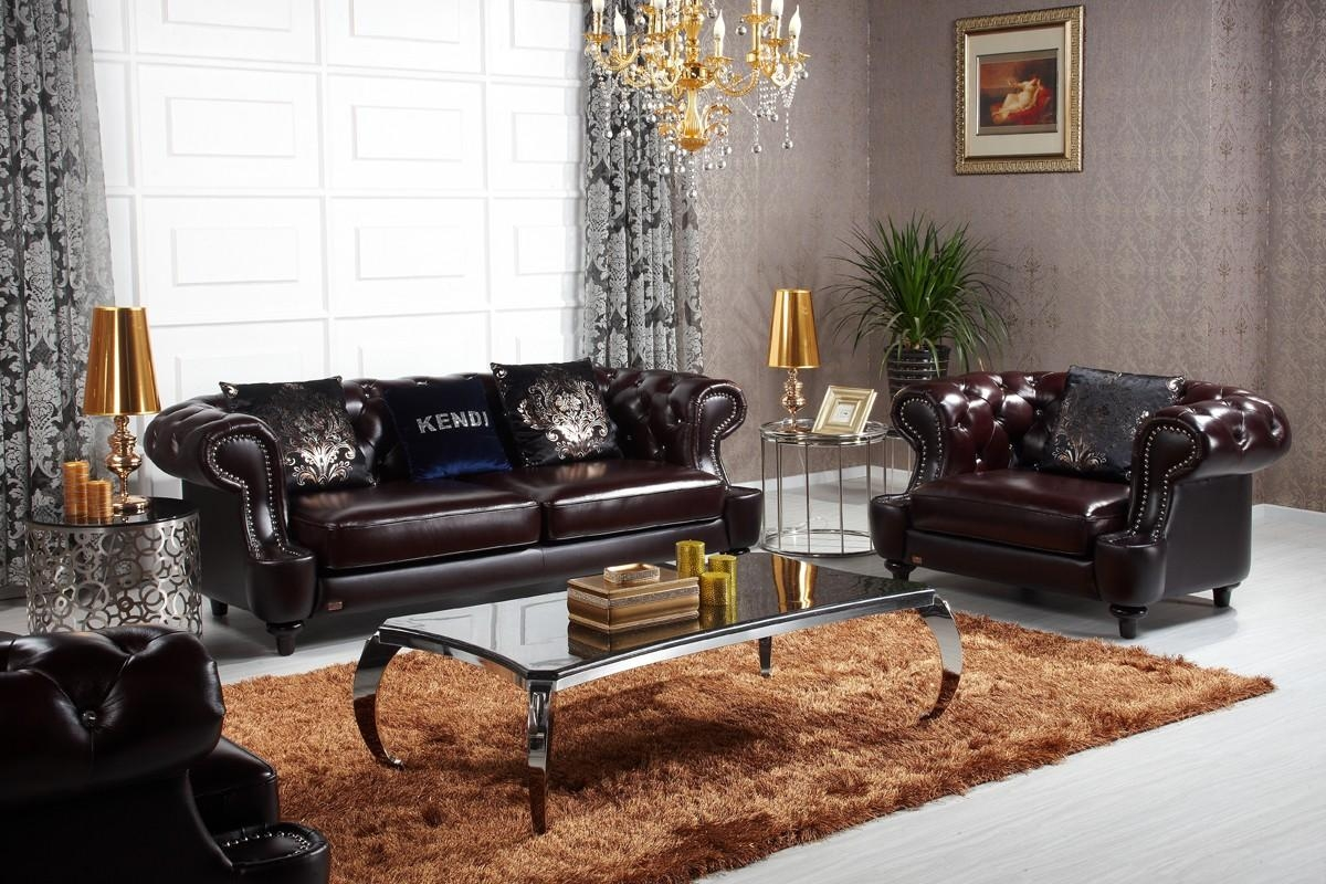 Casa D6022 – Transitional Chocolate Italian Leather Sofa Set Throughout Italian Leather Sofas (Image 2 of 20)