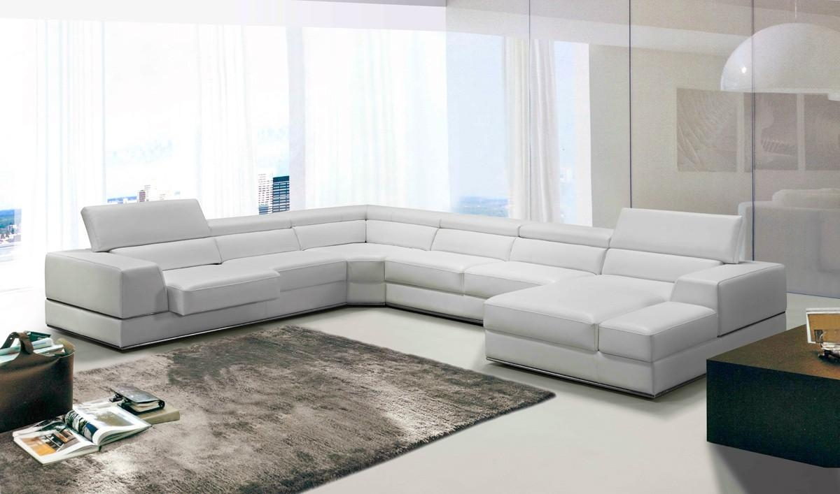 Casa Pella Modern White Leather Sectional Sofa Inside Italian Leather Sectionals Contemporary (Image 1 of 20)