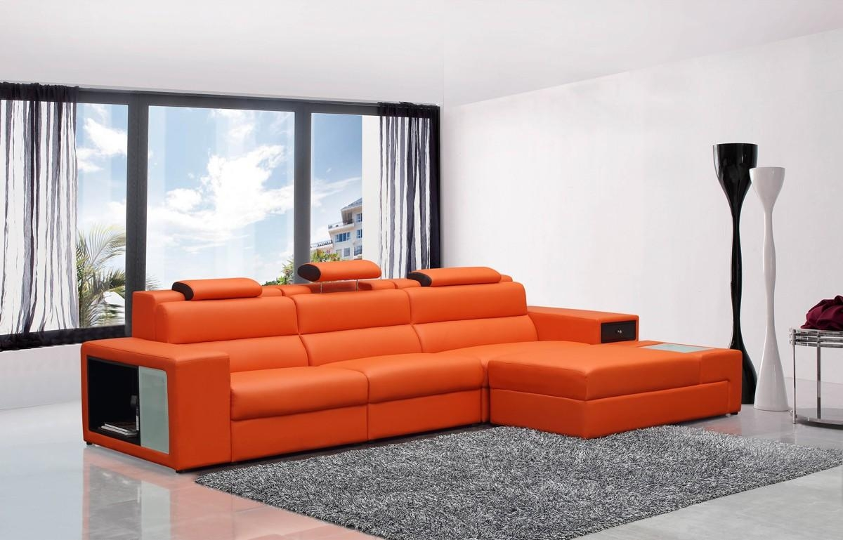 Casa Polaris Mini – Contemporary Bonded Leather Sectional Sofa With Regard To Mini Sectional Sofas (Image 2 of 20)