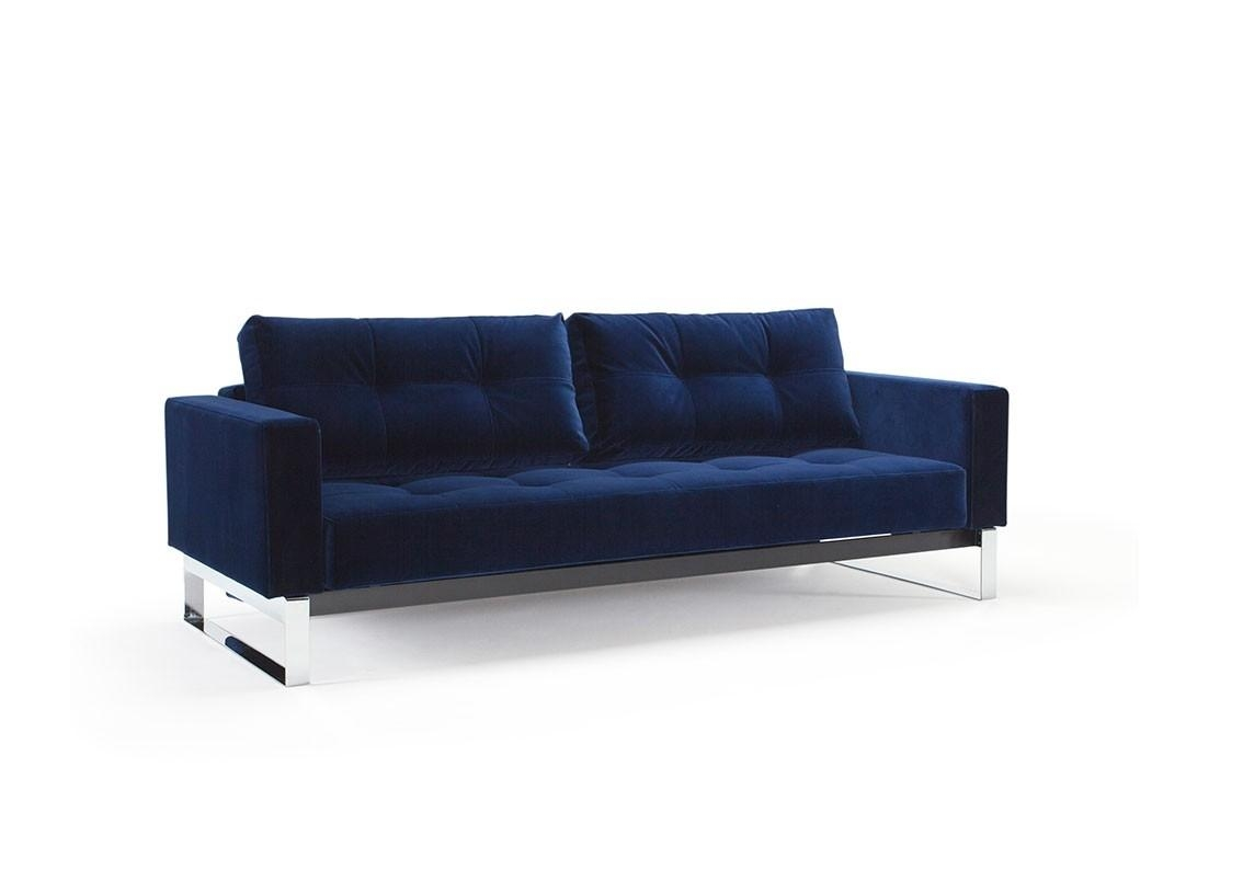 Cassius Vintage Velvet Sofa Bedinnovation Living Intended For Queen Convertible Sofas (Image 4 of 20)