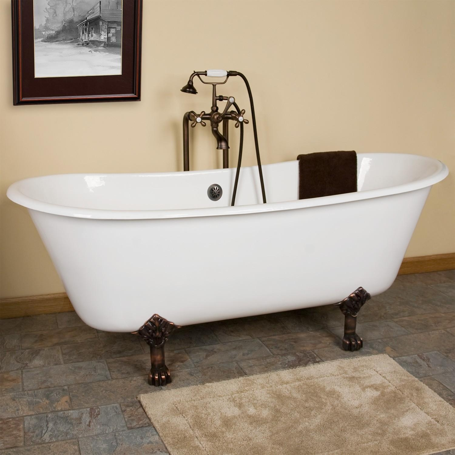 Cast Iron Clawfoot Tub Ideas : How To Paint A Cast Iron Clawfoot Throughout Clawfoot Tub Sofas (Image 5 of 20)