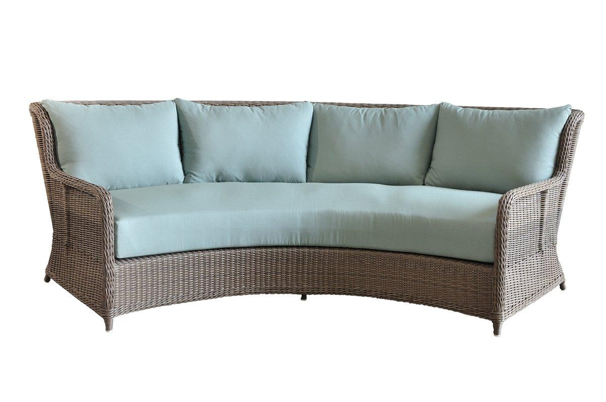 Casual Elements Palma Curved Sofa With Cushions | Wayfair Within Cleopatra Sofas (Image 1 of 20)