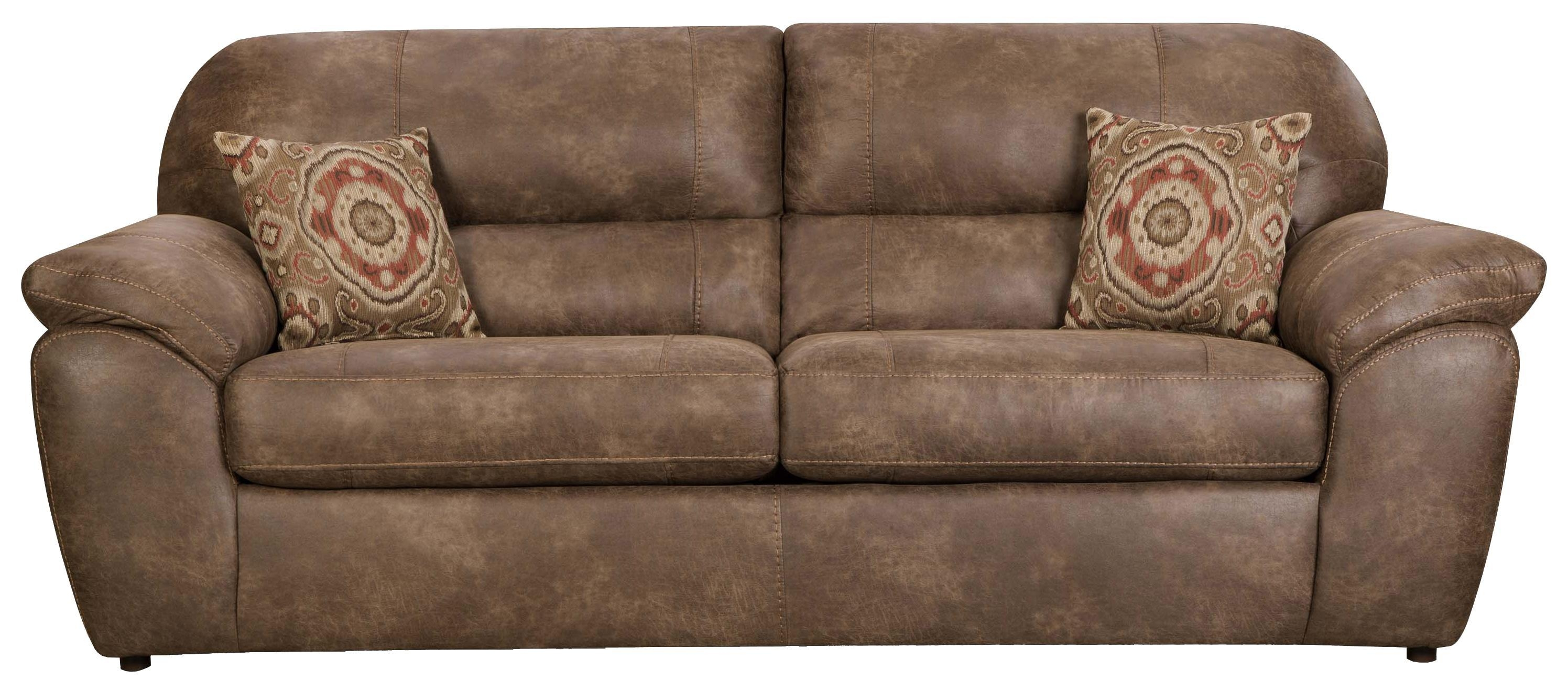 Casual Faux Leather Plush Sofacorinthian | Wolf And Gardiner Inside Corinthian Sofas (View 3 of 20)