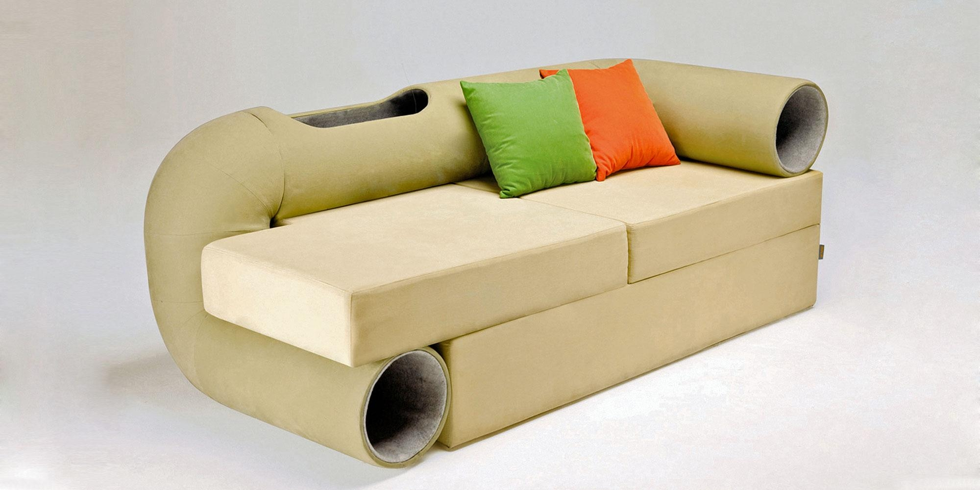 Cat Tunnel Sofa In Cat Tunnel Couches (Image 6 of 20)