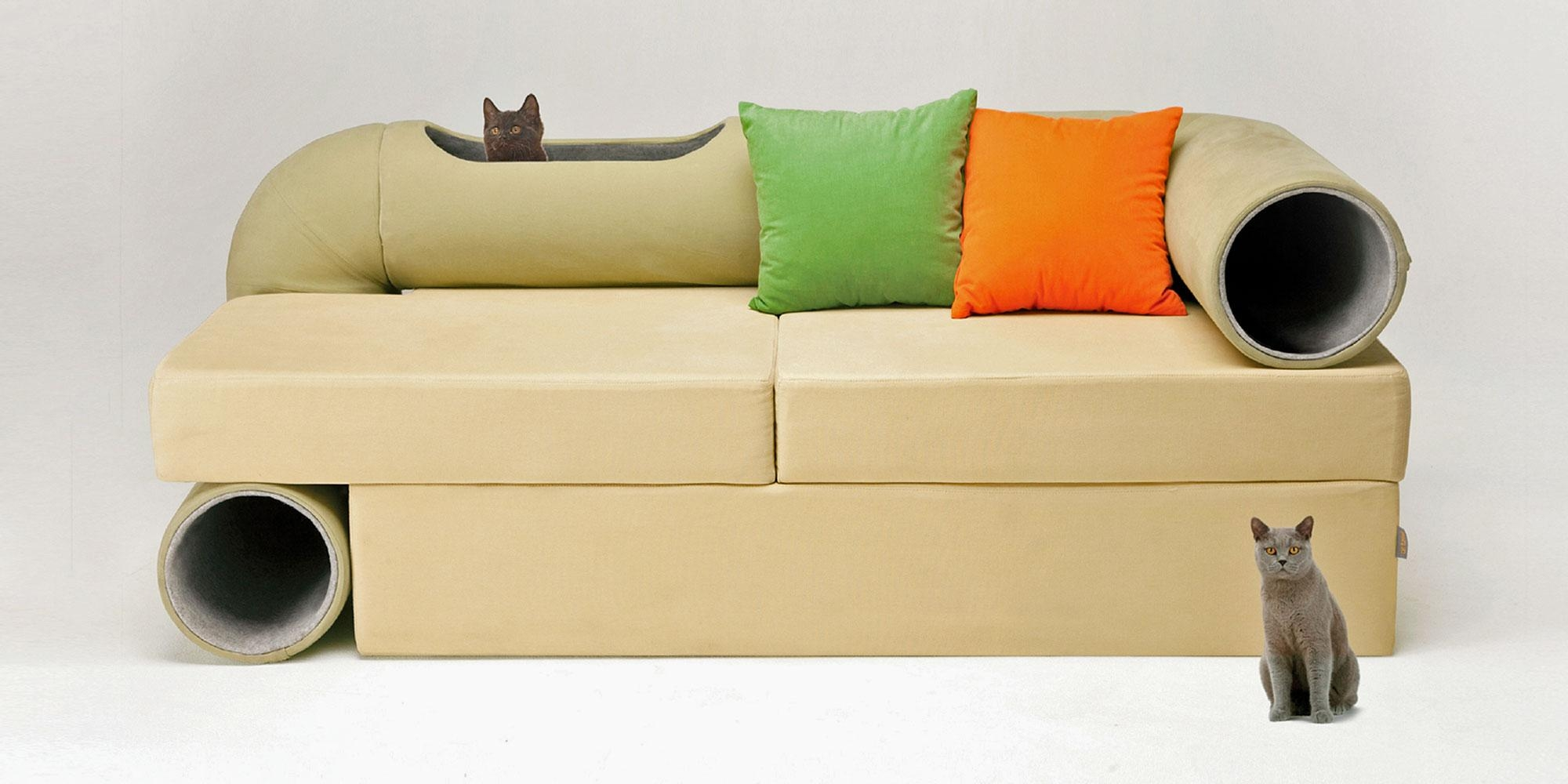 Cat Tunnel Sofa Throughout Cat Tunnel Couches (Image 11 of 20)
