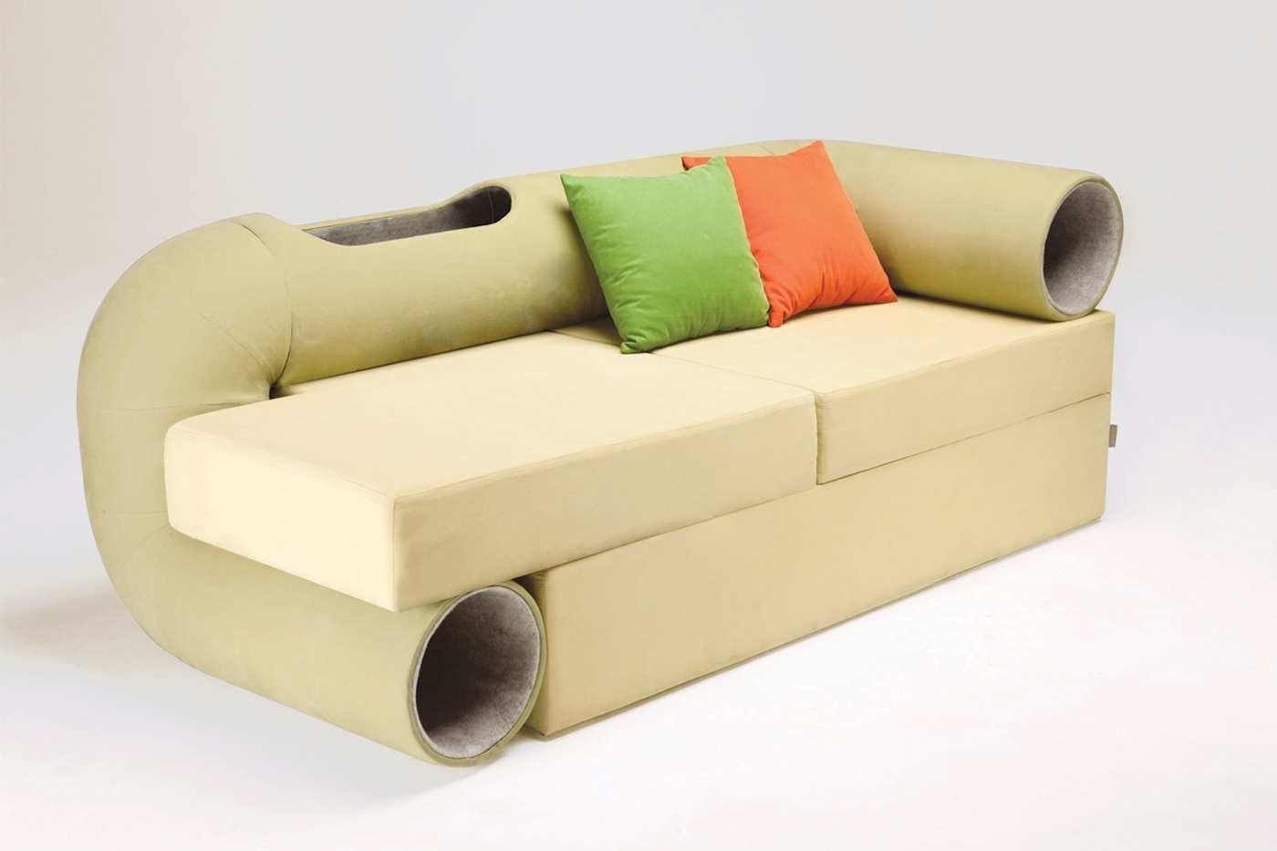 Cat Tunnel Sofa With Inspiration Hd Gallery 5062 | Kengire Within Cat Tunnel Couches (Image 15 of 20)