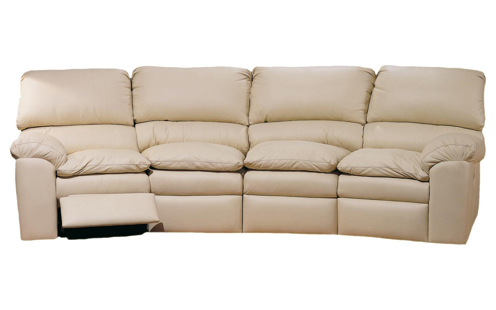 Catera 4 Seat Conversation Sofa – Omnia Leather In 4 Seat Sofas (Image 9 of 20)