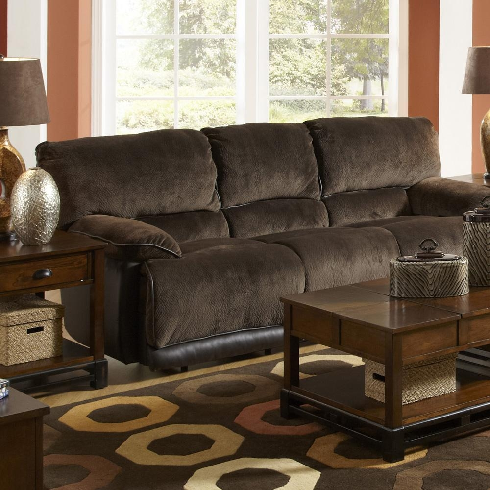 Catnapper Escalade Chocolate Dual Reclining Sofa For Catnapper Reclining Sofas (Image 7 of 20)