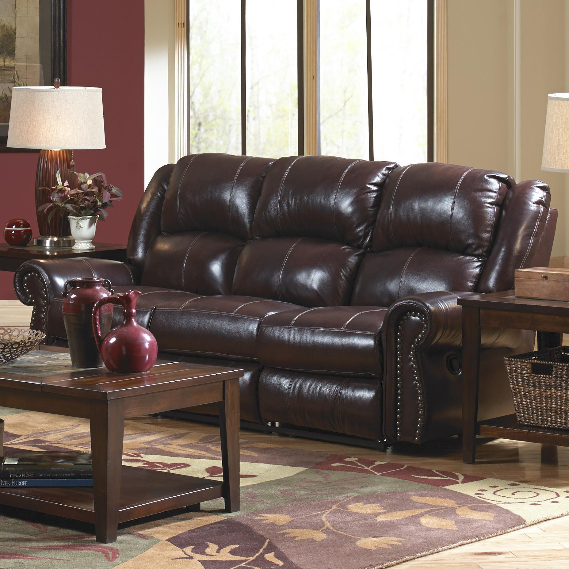 Catnapper Livingston Power Reclining Sofa With Drop Down Table And Within Catnapper Reclining Sofas (Image 9 of 20)