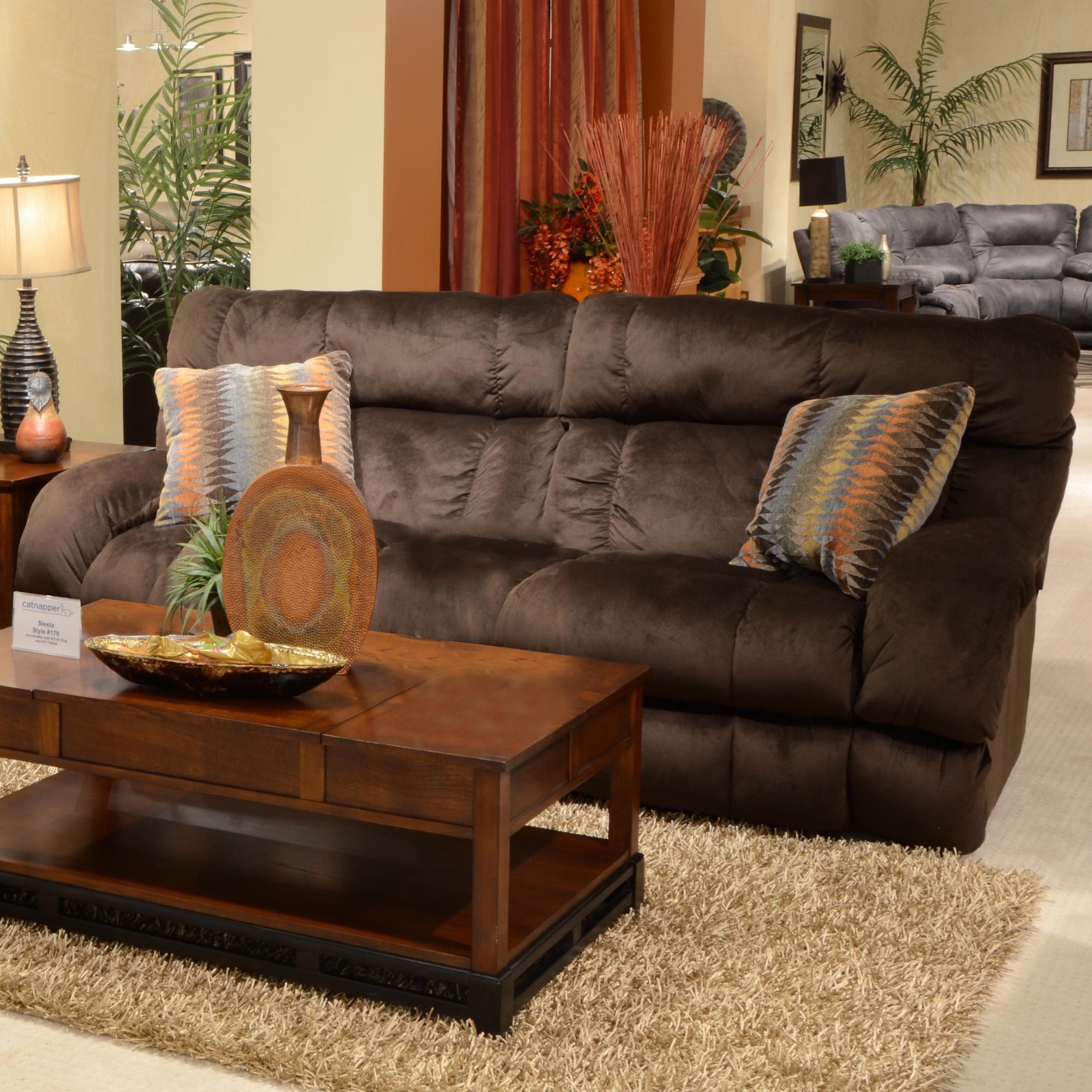 Catnapper Siesta Lay Flat Reclining Sofa With Wide Seats – Lindy's Within Catnapper Sofas (Image 8 of 20)