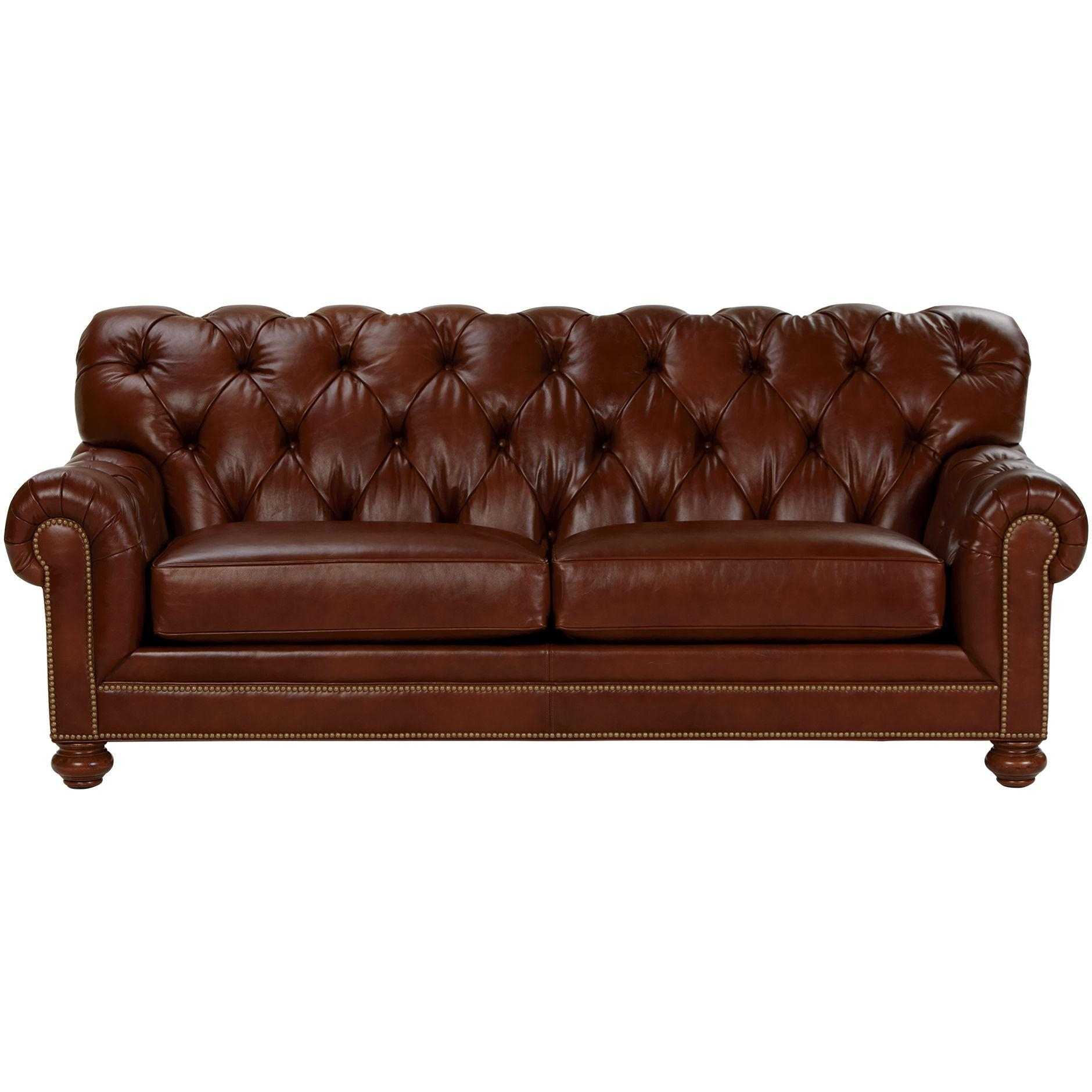 Chadwick Leather Sofa, Old English/ Saddle – Ethan Allen Us | Sofa Inside Chadwick Sofas (Image 5 of 20)