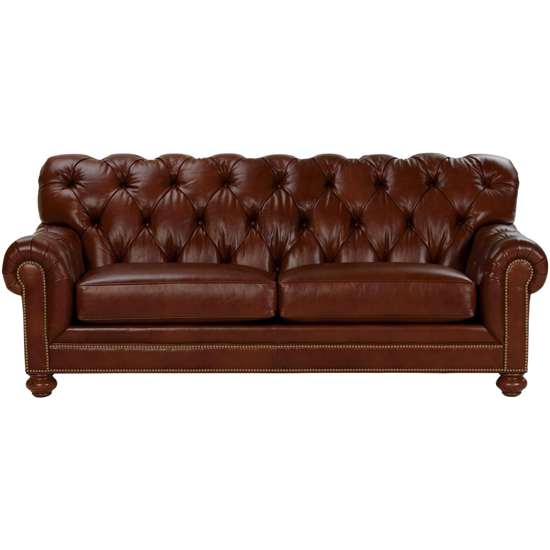 Chadwick Leather Sofa, Old English/ Saddle – Ethan Allen Us | Sofa Inside Chadwick Sofas (Image 5 of 20)