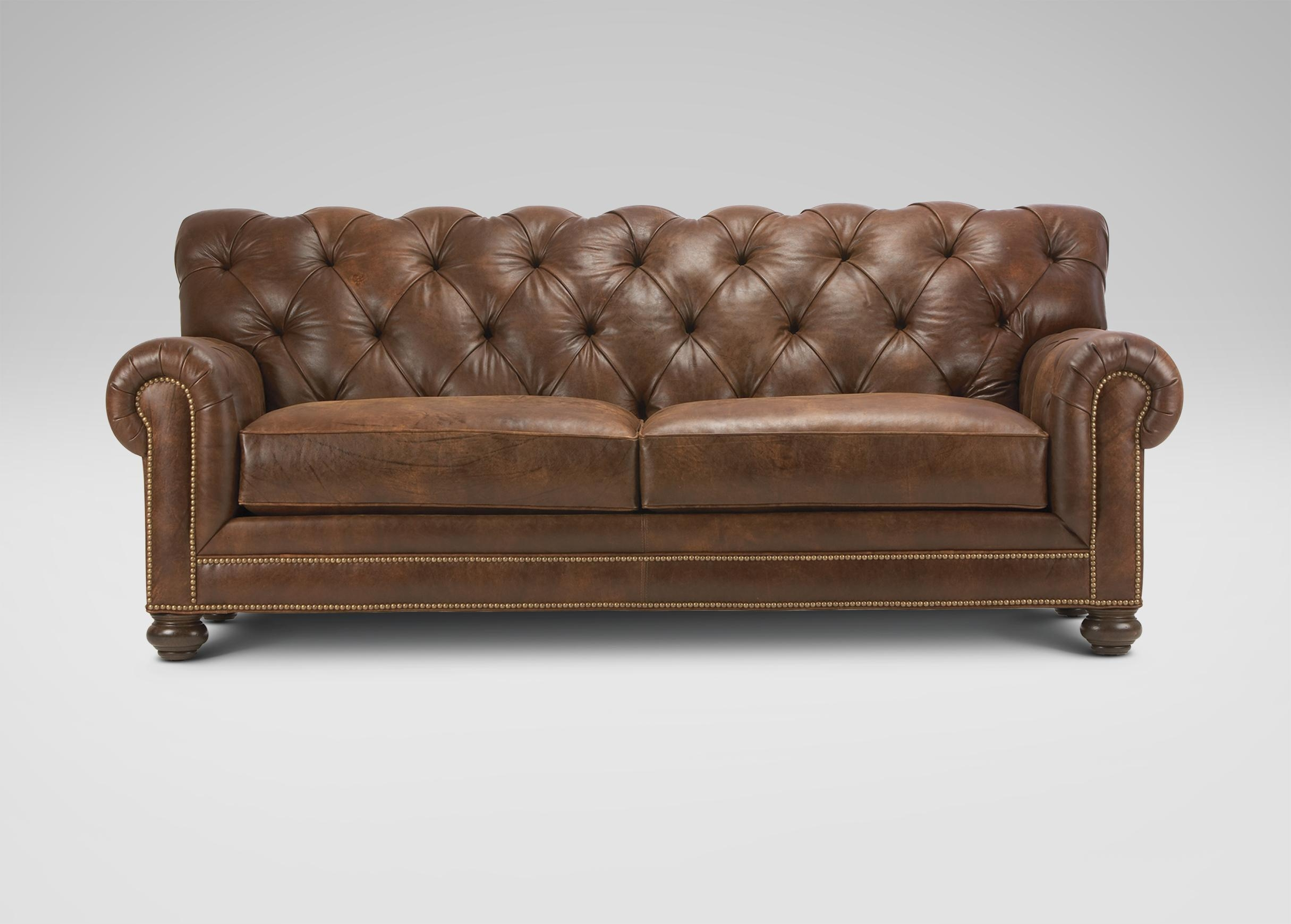 Chadwick Leather Sofa | Sofas & Loveseats Intended For Ethan Allen Chesterfield Sofas (Image 2 of 20)