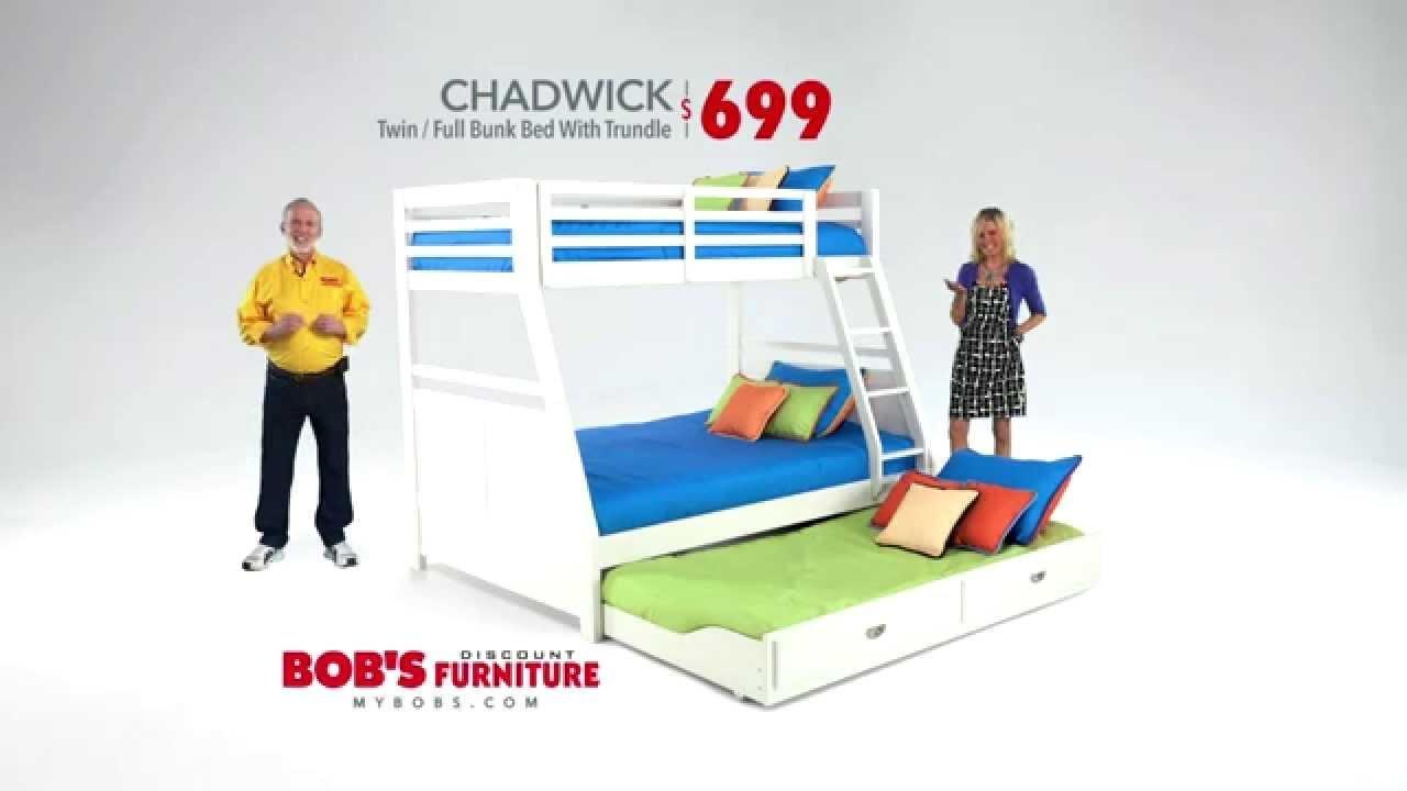 Chadwick Twin Or Full Bunk Bed – Bob's Discount Furniture – Youtube With Regard To Chadwick Sofas (Image 10 of 20)