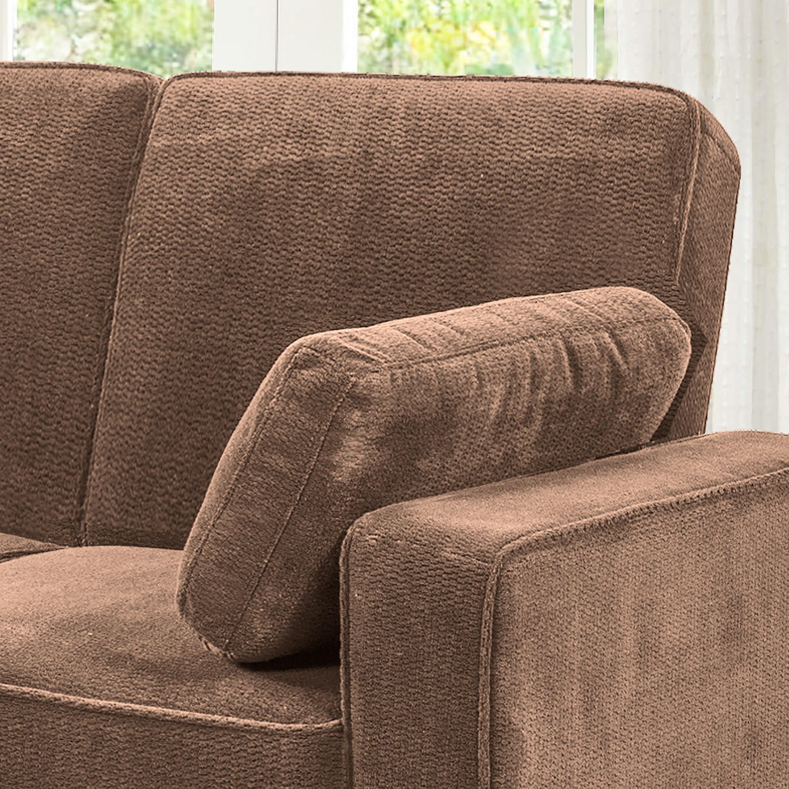 Chaela Sectional Convertible Sofa Light Brownserta / Lifestyle With Regard To Serta Sectional (View 15 of 20)