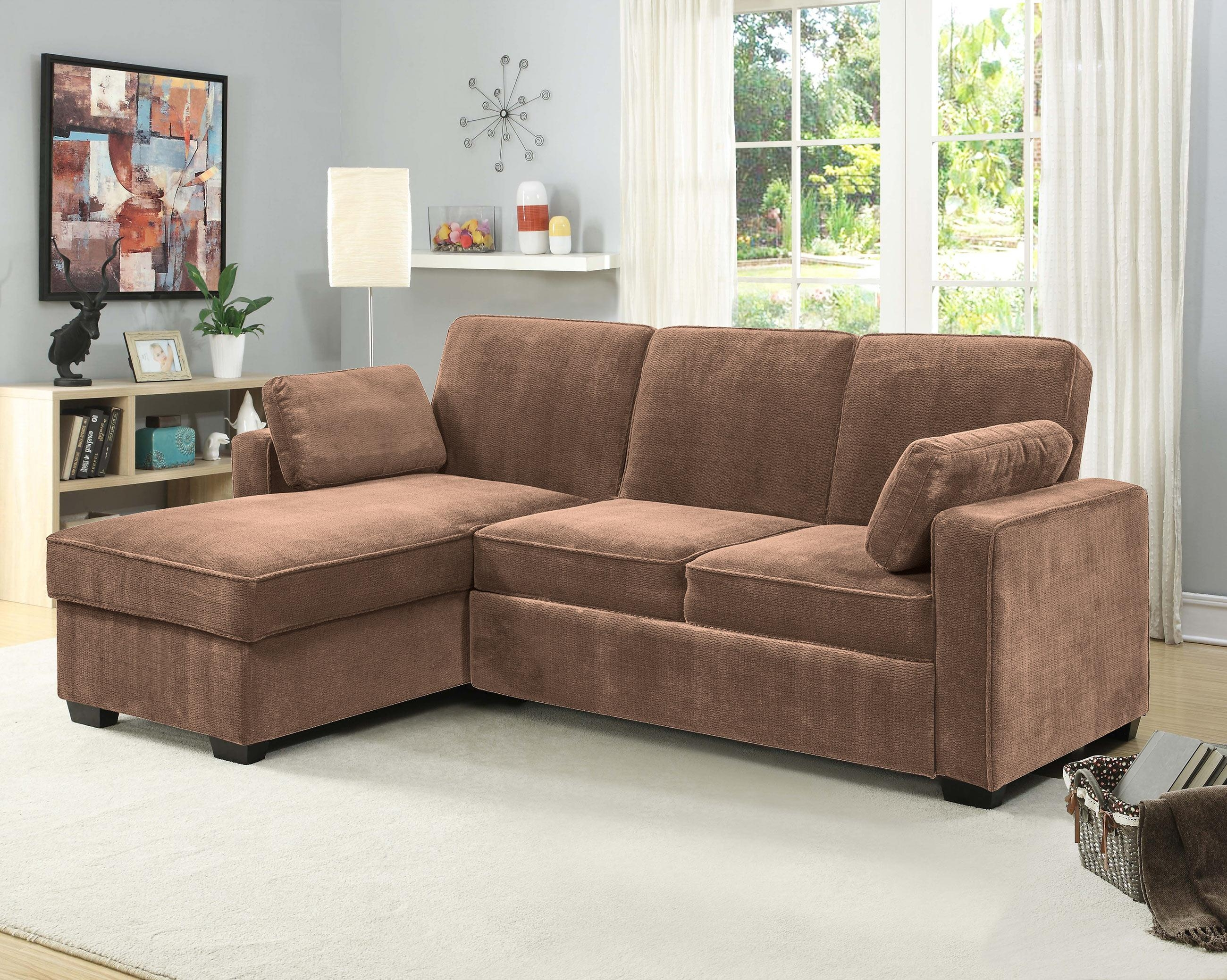Chaela Sectional Convertible Sofa Light Brownserta / Lifestyle With Serta Sectional (Image 10 of 20)