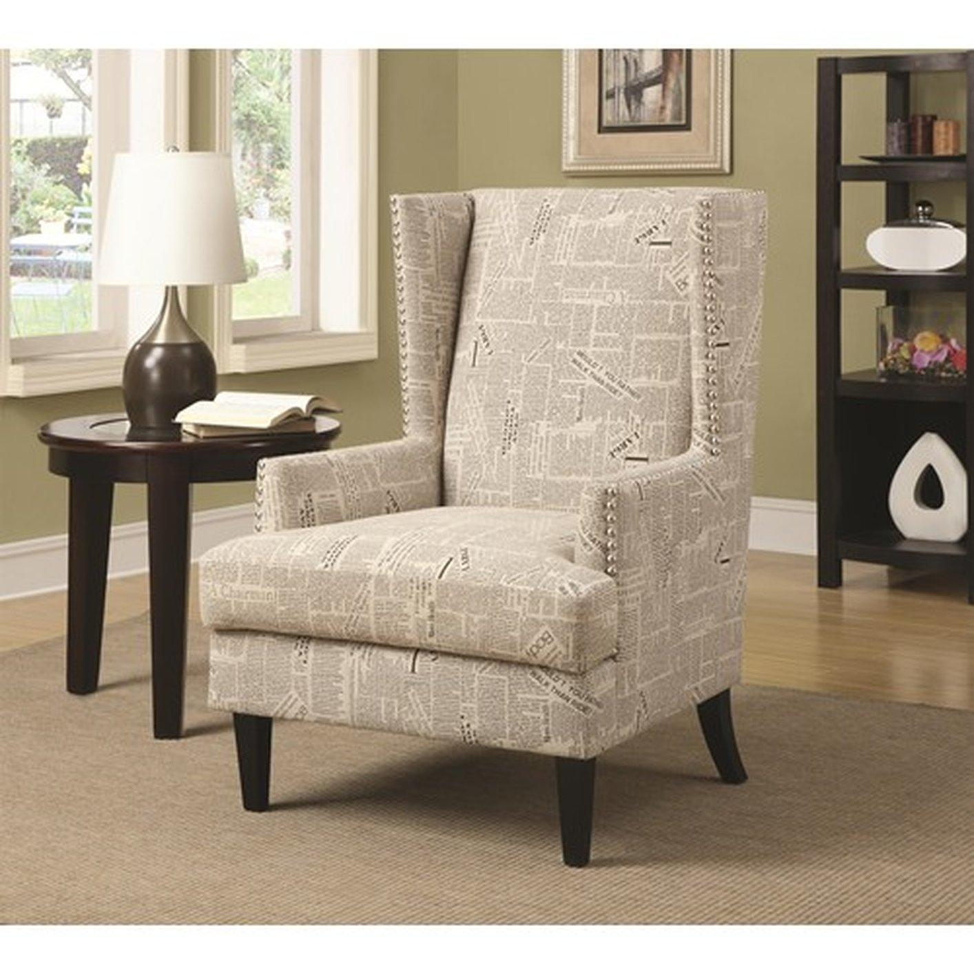 Chair Fabric Accent Chair Upholstered Chairs With Arms Whi Fabric Intended For Accent Sofa Chairs (View 2 of 20)