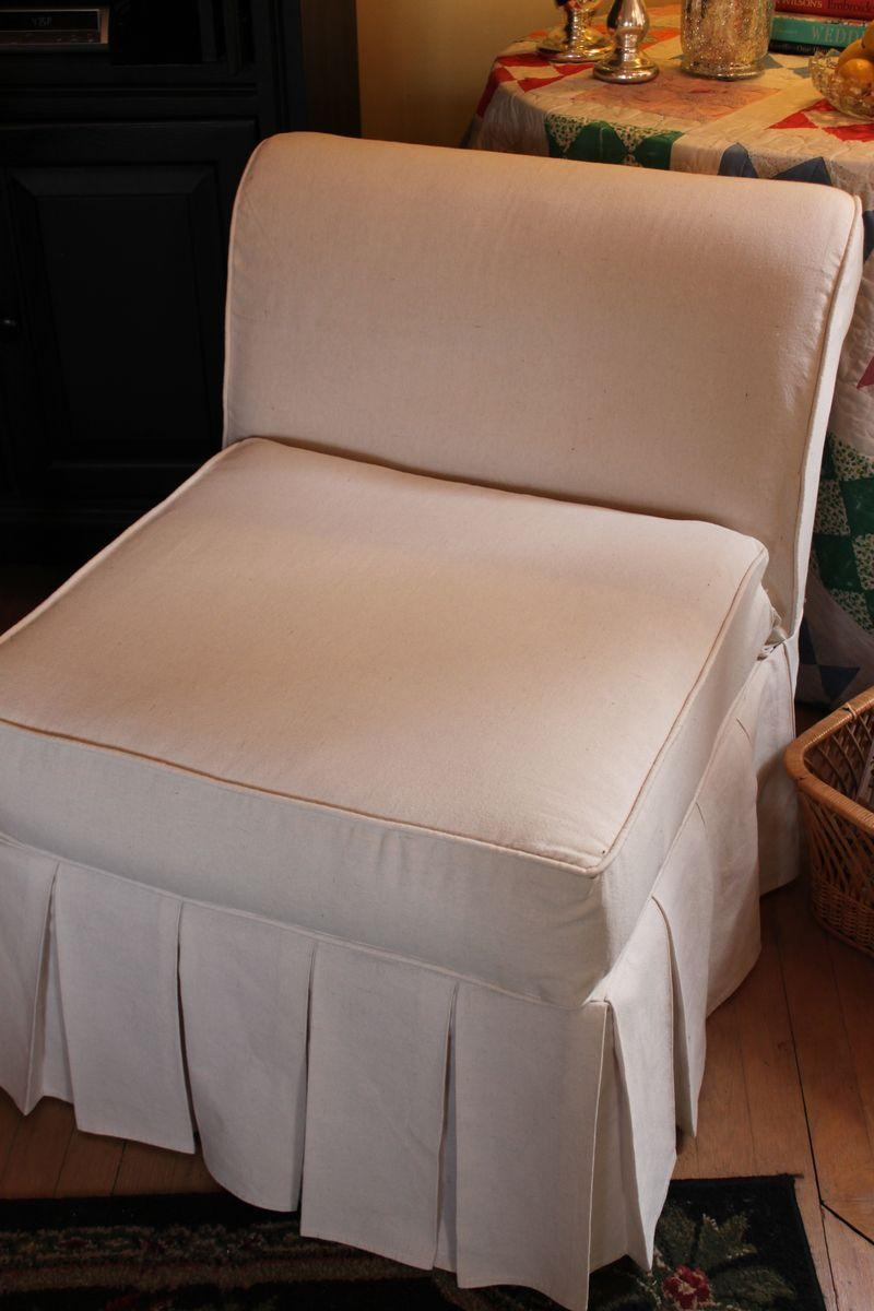 Chair Manon Armless Chair Without Skirt Oka Vintage Skirted In Armless Slipcovers (Image 3 of 20)