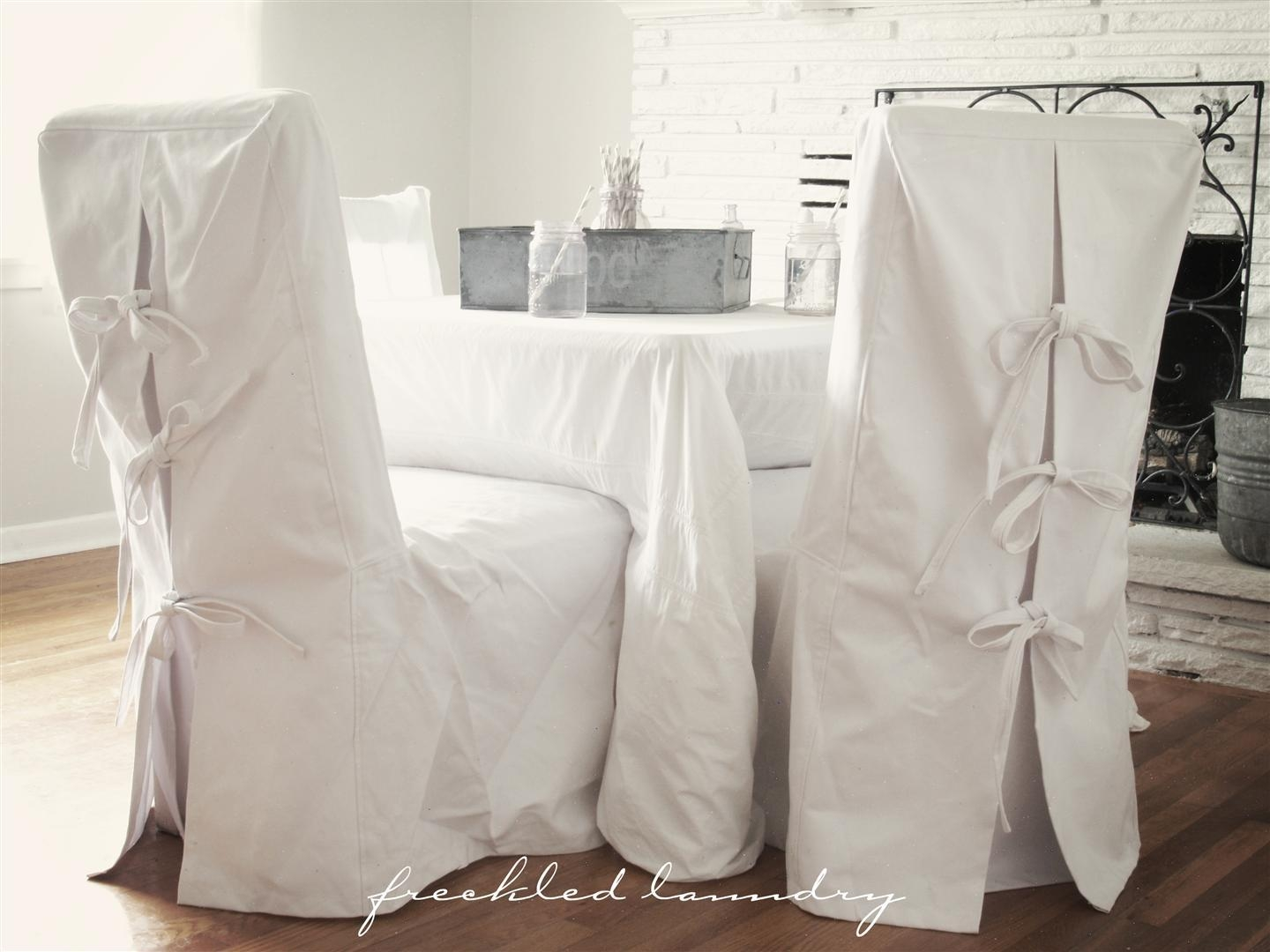 Chair Slip Cover Pattern Design Patterns With Top Slip Covers With Regard To Pottery Barn Chair Slipcovers (Image 1 of 20)