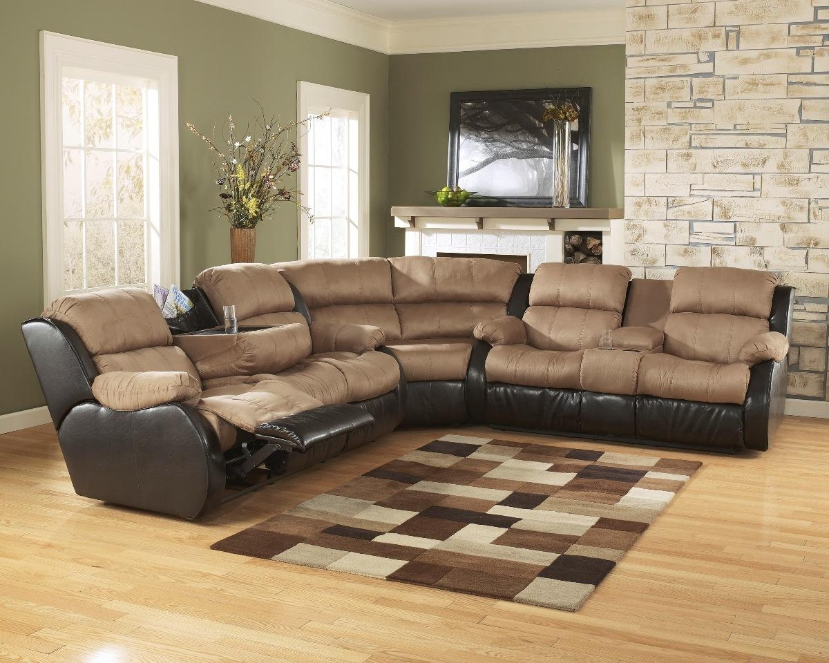 Chair & Sofa: Have An Interesting Living Room With Ashley Intended For Ashley Faux Leather Sectional Sofas (Image 4 of 20)