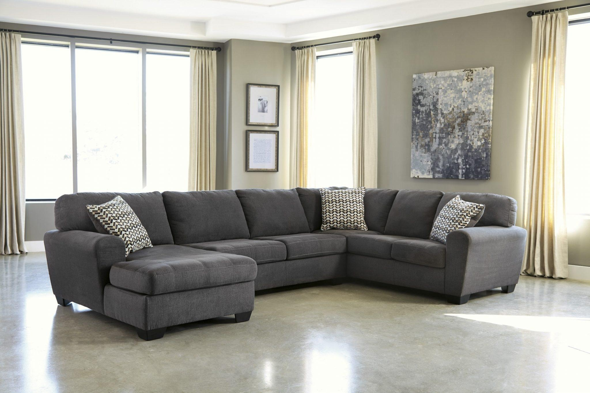 Chair & Sofa: Have An Interesting Living Room With Ashley Pertaining To Ashley Curved Sectional (Image 4 of 15)