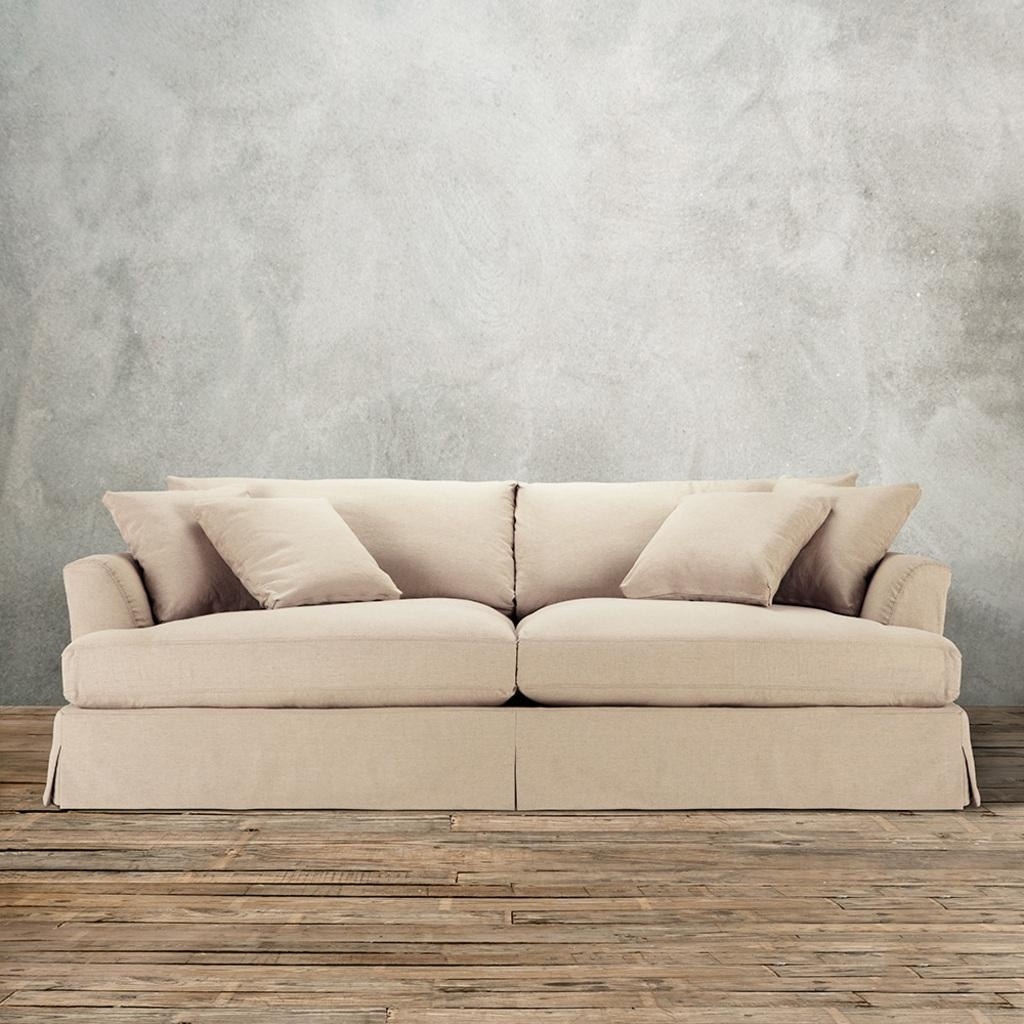Chair & Sofa: Usual Slipcovered Sofas For Classic Sofa Idea Inside Arhaus Slipcovers (View 3 of 20)