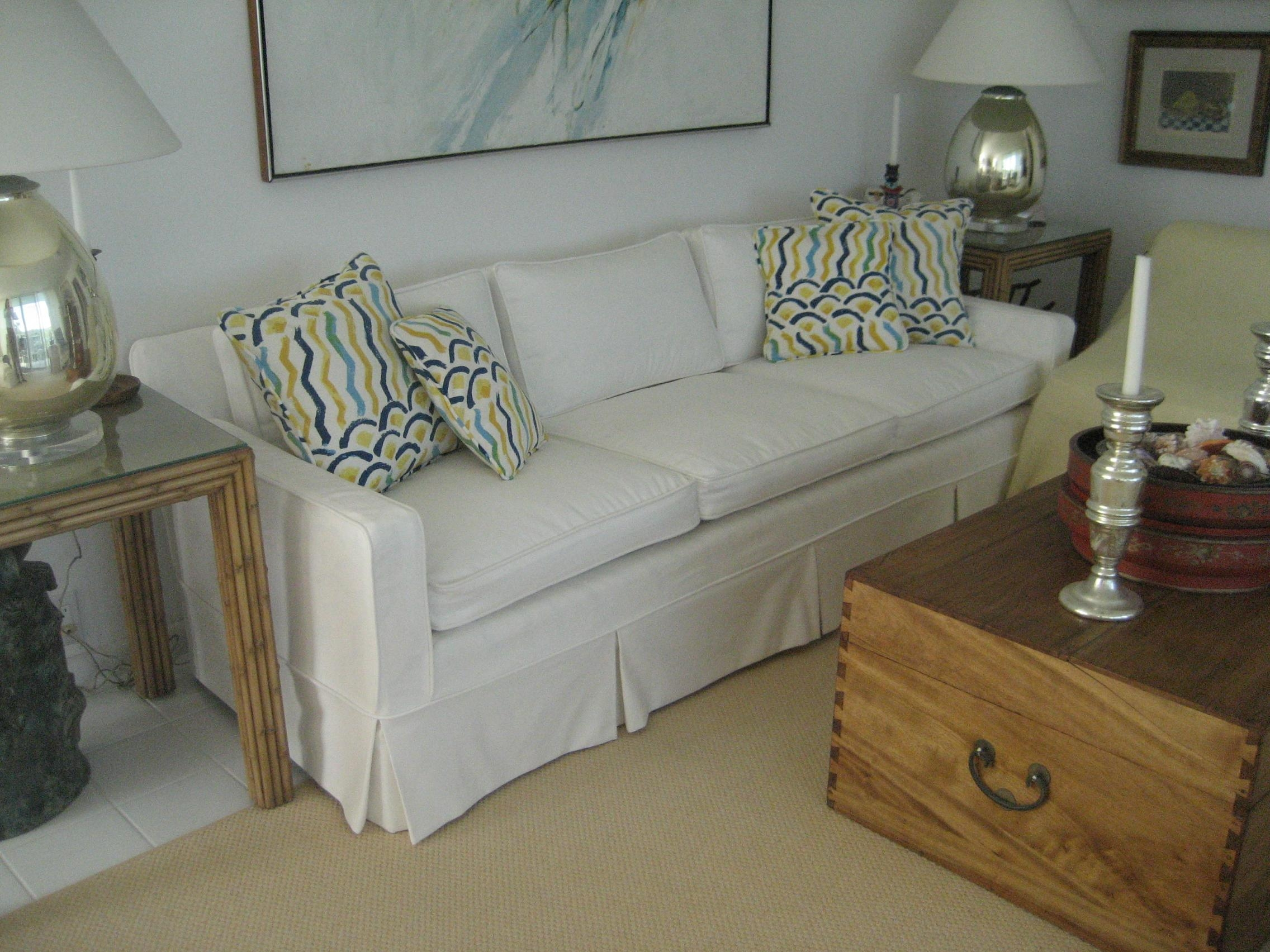 Chair & Sofa: Usual Slipcovered Sofas For Classic Sofa Idea Intended For Arhaus Slipcovers (Image 8 of 20)