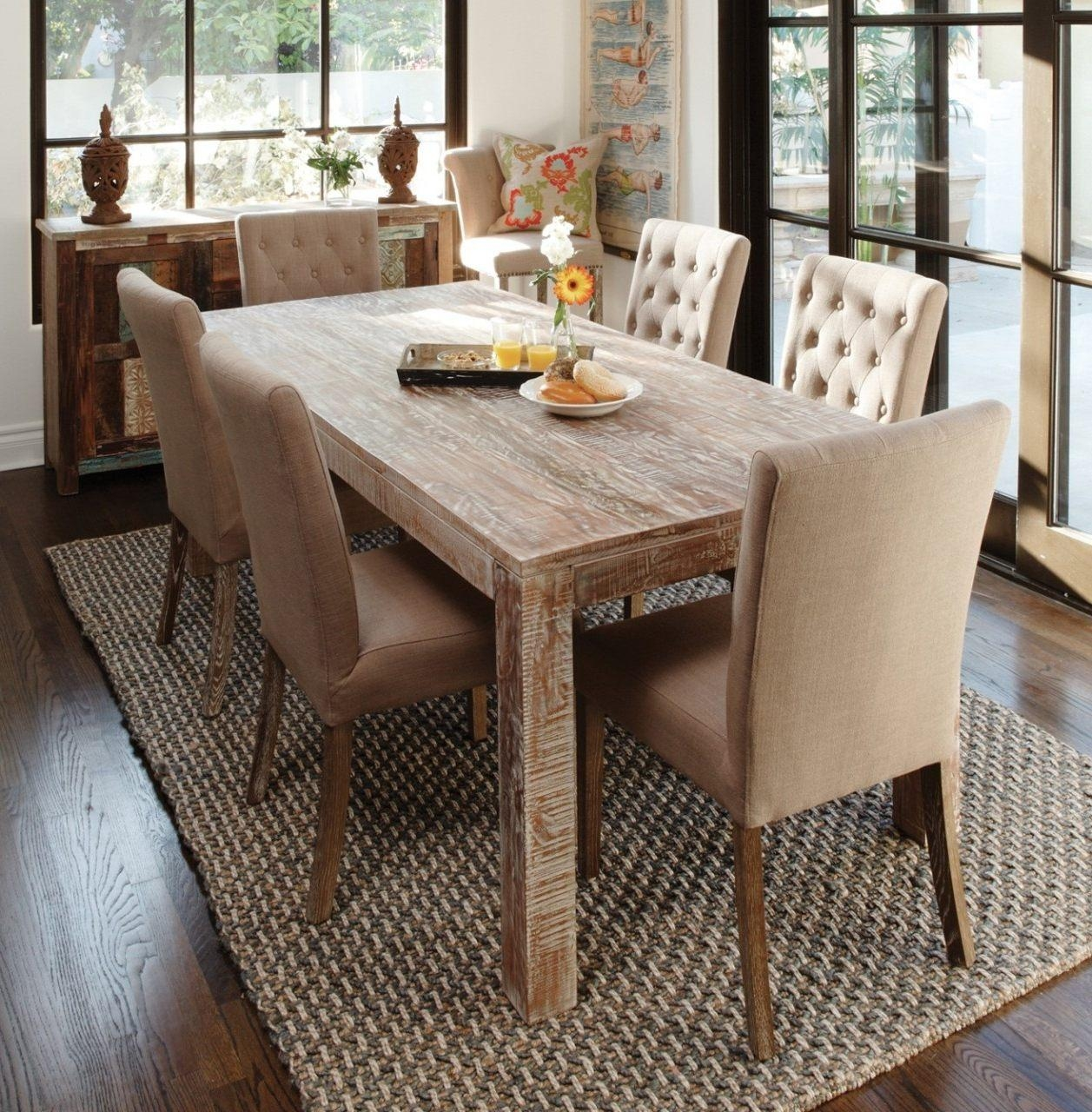 Chair Winsome Modern Rustic Kitchen Table Sofa With Set Gorgeous Inside Sofa Table With Chairs (Image 10 of 20)