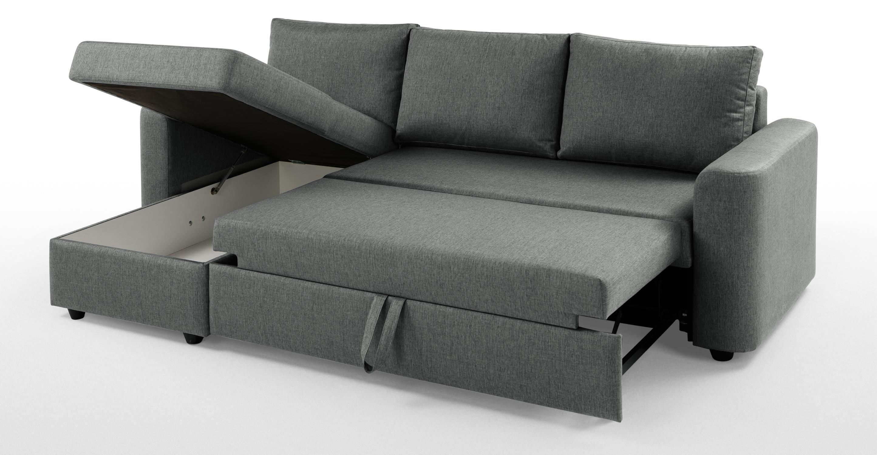 Chaise Sofa Bed With Storage.  (Image 2 of 20)