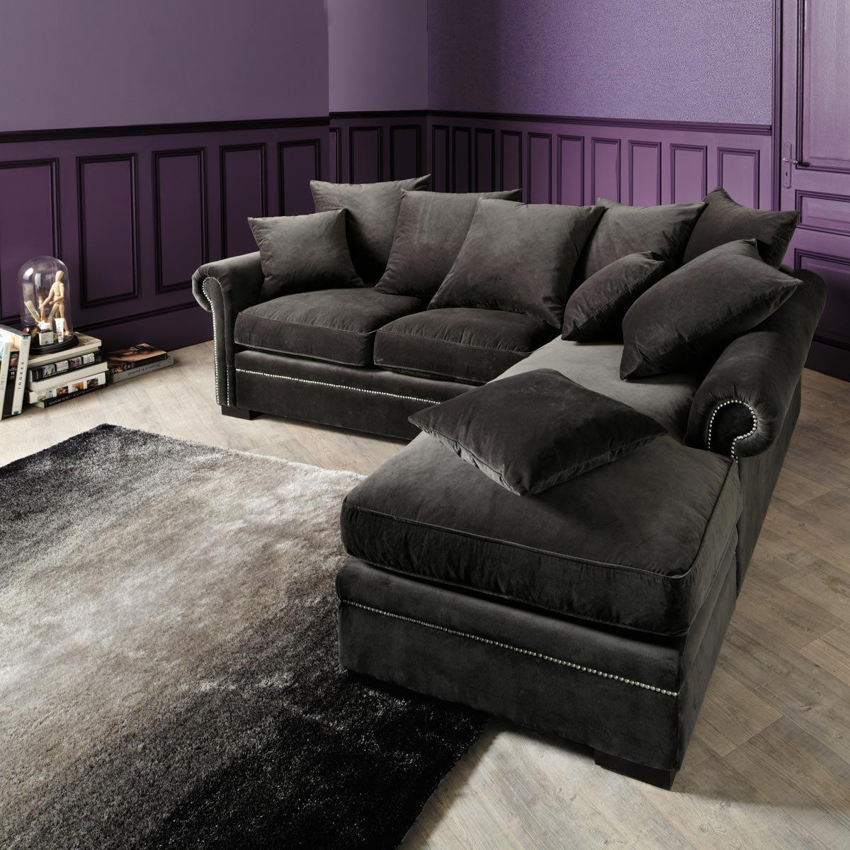 Charcoal Gray Sectional Sofa With Design Picture 19456 | Kengire For Charcoal Gray Sectional Sofas (Image 3 of 20)