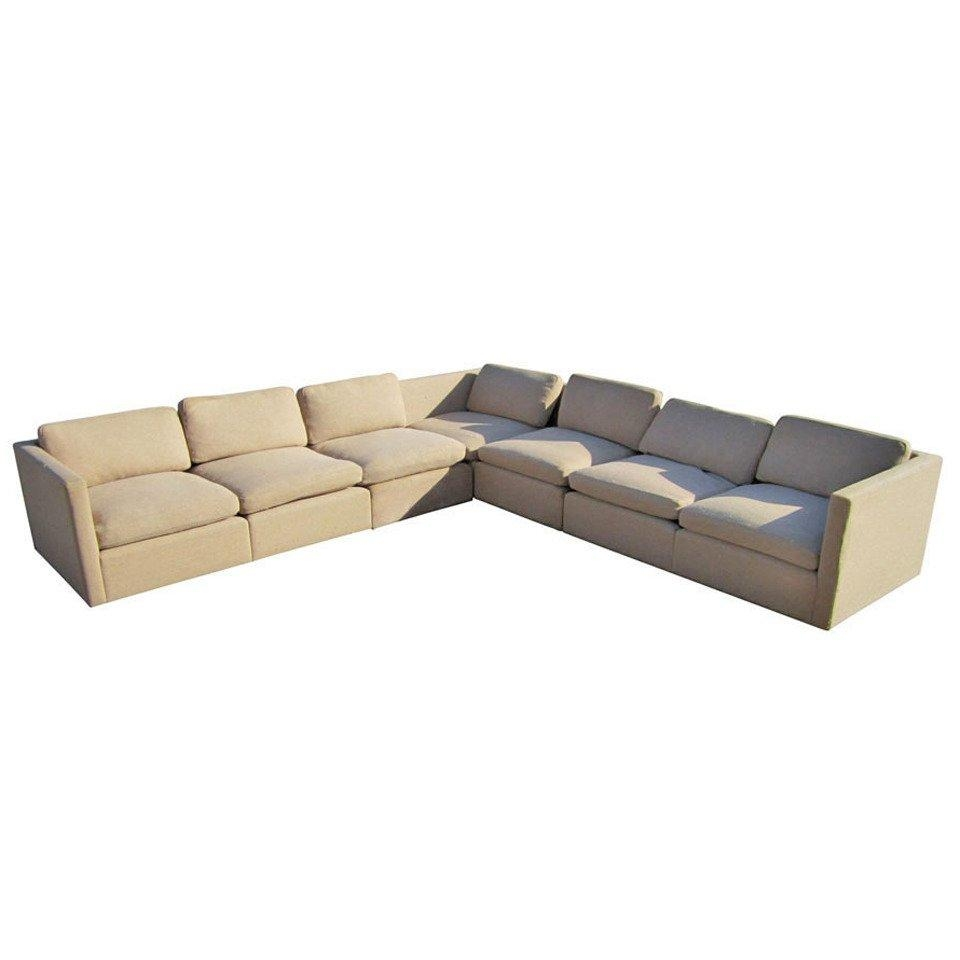 Charles Pfister For Knoll V Shaped Sectional Sofa At 1Stdibs Intended For Retro Sectional Couch (Image 5 of 20)