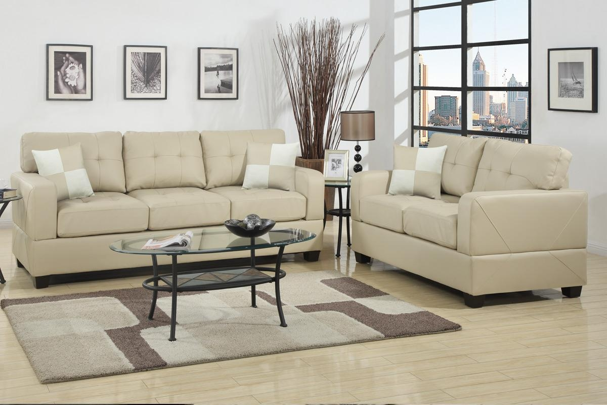 Chase Beige Leather Sofa And Loveseat Set – Steal A Sofa Furniture Inside Beige Leather Couches (Image 5 of 20)