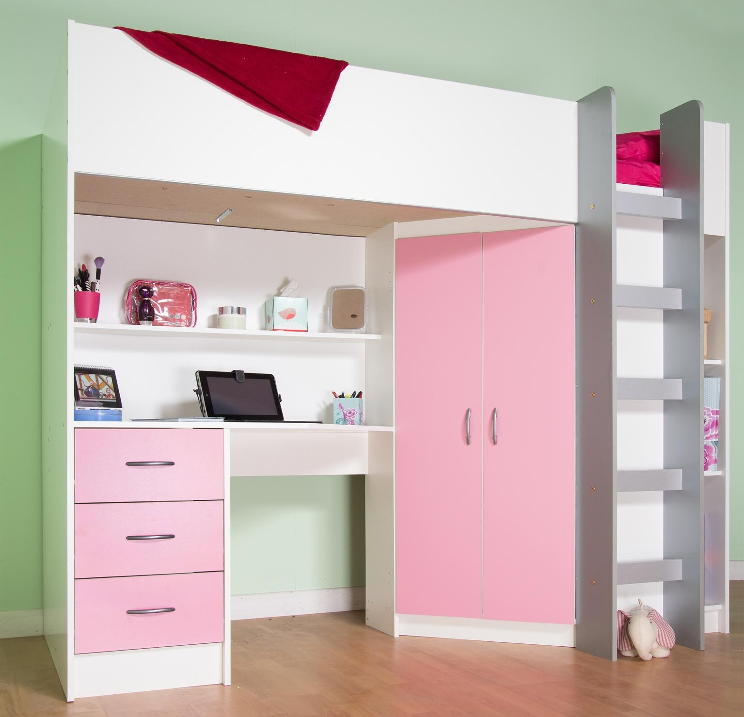 Cheap Cabin Beds With Desk | Kts S Within High Sleeper With Sofa And Desk (Image 3 of 20)