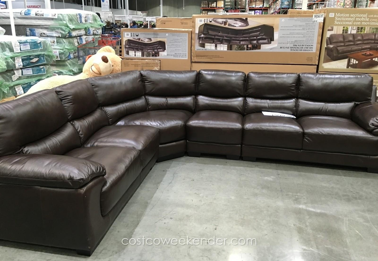 Cheers Clayton Leather Sofa Costco Review – Revistapacheco Inside Cheers Sofas (Image 2 of 20)