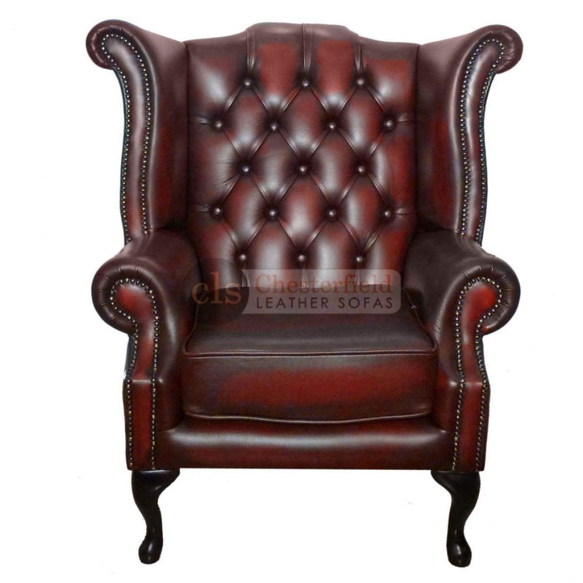 Chesterfield Chair Armchair Leather As Classic Office Equipment In Red Leather Chesterfield Chairs (Image 8 of 20)
