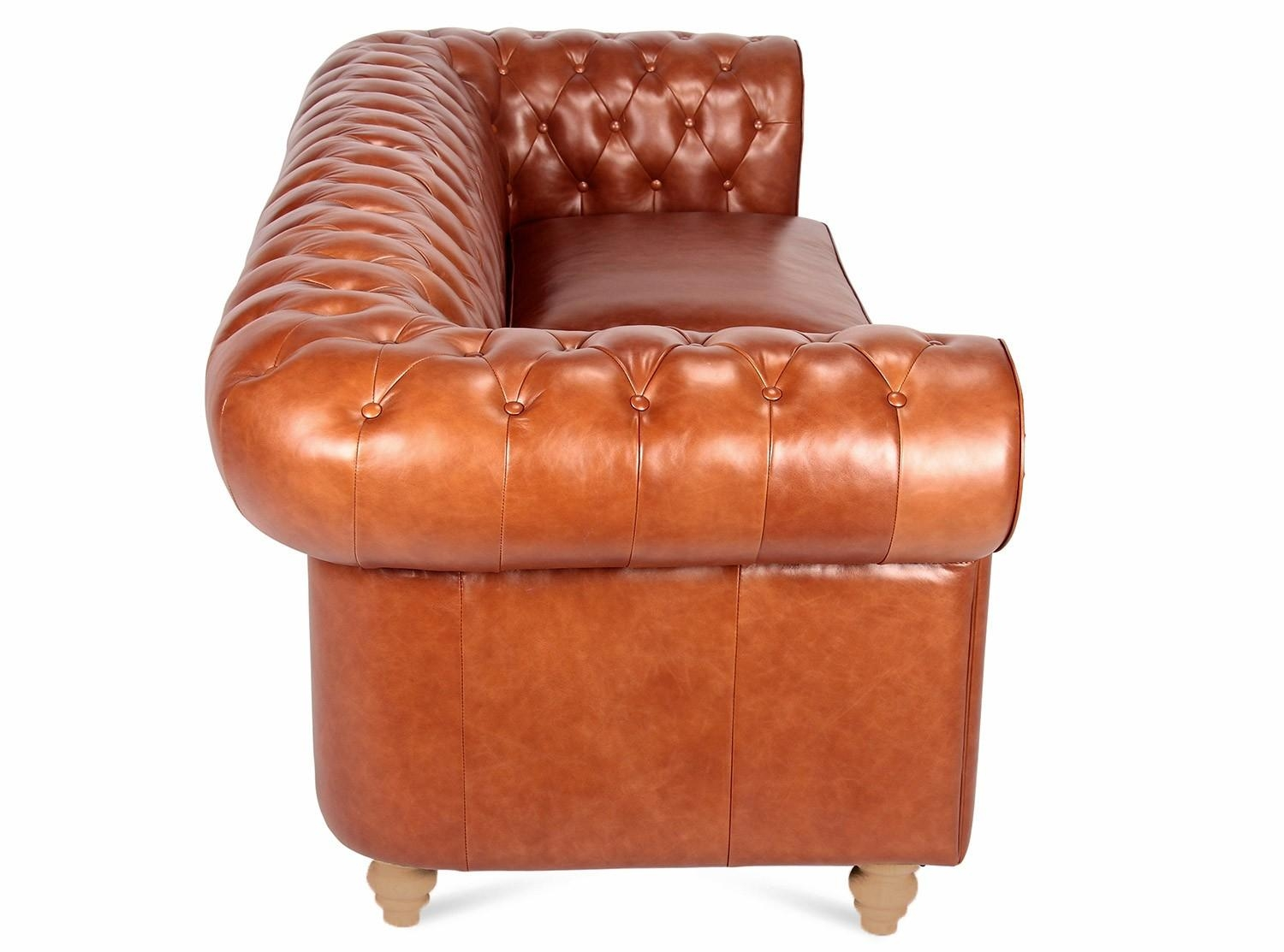 Chesterfield Sofa 3 Seater Pertaining To Aniline Leather Sofas (Image 11 of 20)
