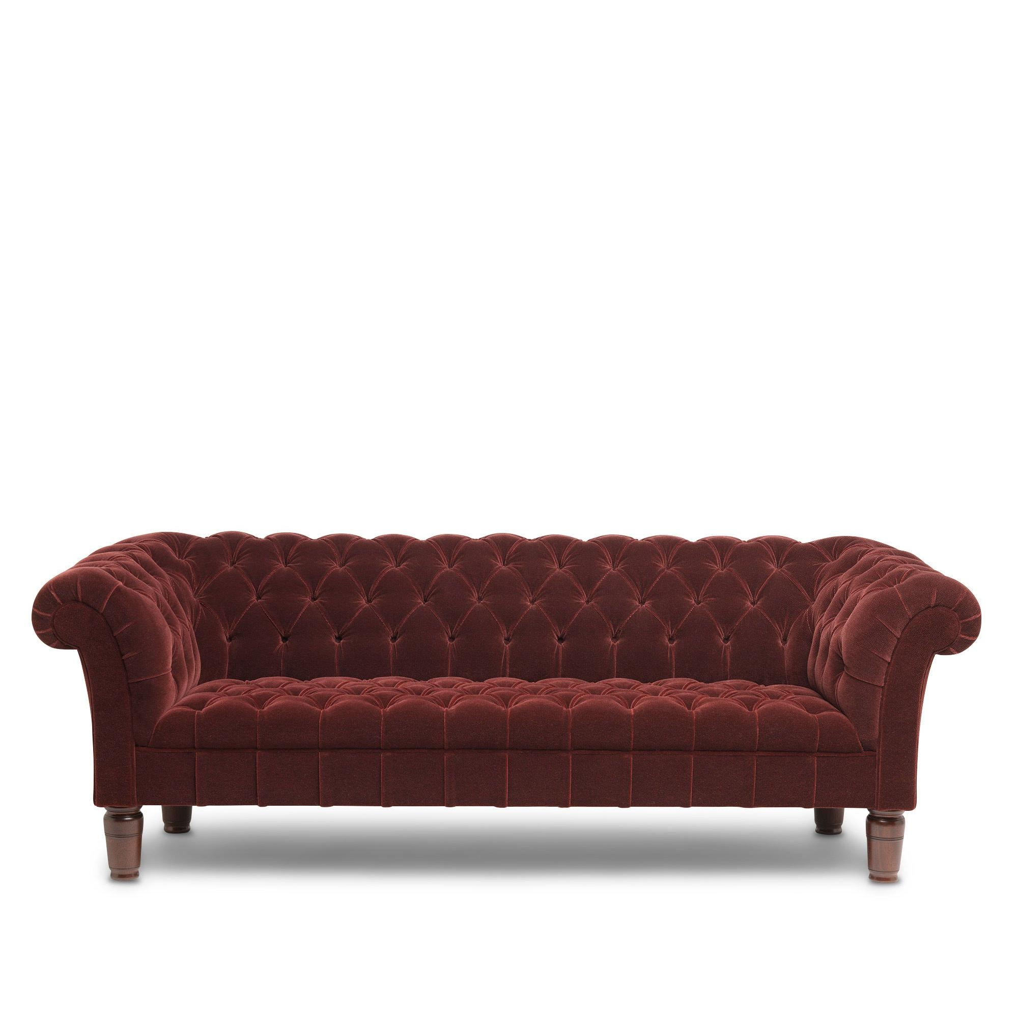 Chesterfield Sofa, Burgundy Mohair Pertaining To Red Chesterfield Sofas (View 16 of 20)
