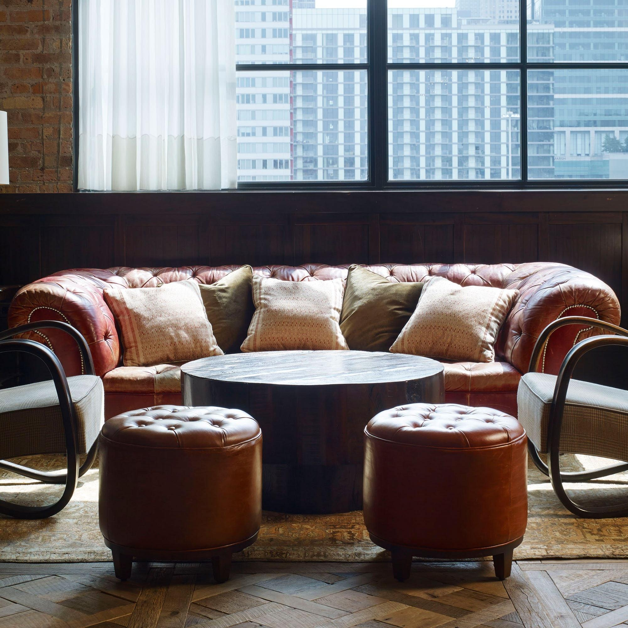 Chesterfield Sofa, Chestnut Leather Within Giant Sofas (Image 5 of 20)