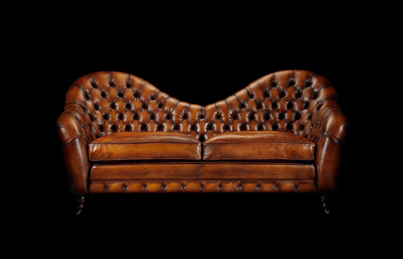 Chesterfield Sofa / Leather / 2 Seater / On Casters – Francis Regarding Casters Sofas (Image 4 of 20)