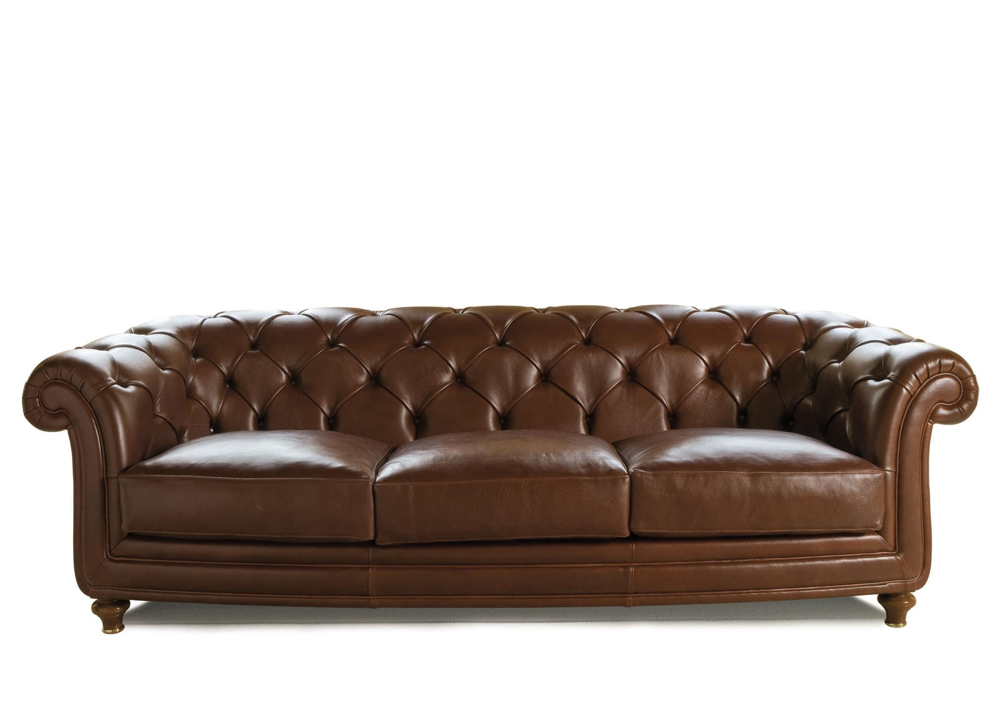 Chesterfield Sofa / Leather / Fabric / 3 Seater – Oxford – Berto With Regard To Oxford Sofas (View 4 of 20)