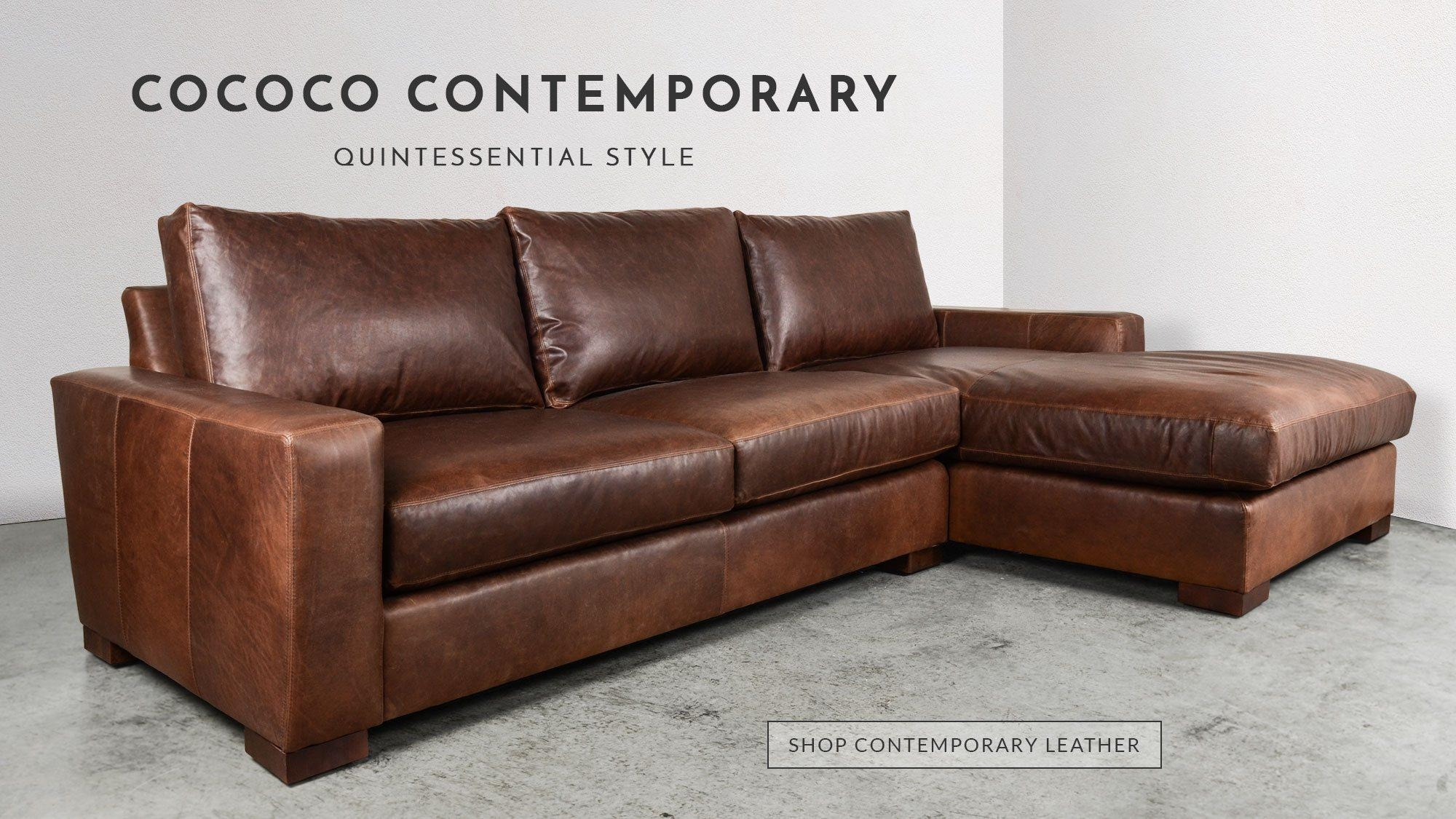 Chesterfield Sofas, Modern Furniture Made In Usa | Cococohome Regarding Custom Leather Sectional (Image 3 of 15)