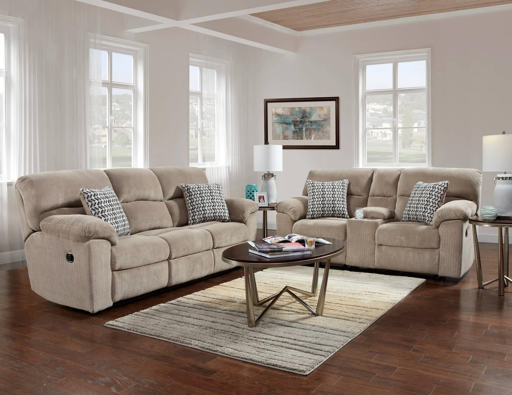 Chevron Seal Reclining Sofa And Loveseat | Reclining Living Room Sets Pertaining To Reclining Sofas And Loveseats Sets (Image 2 of 20)