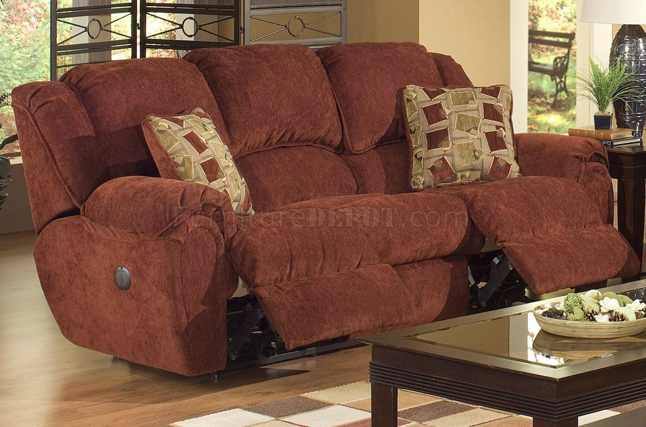 Chianti Fabric Modern Conrad Reclining Sofa W/options Regarding Catnapper Recliner Sofas (Image 12 of 20)