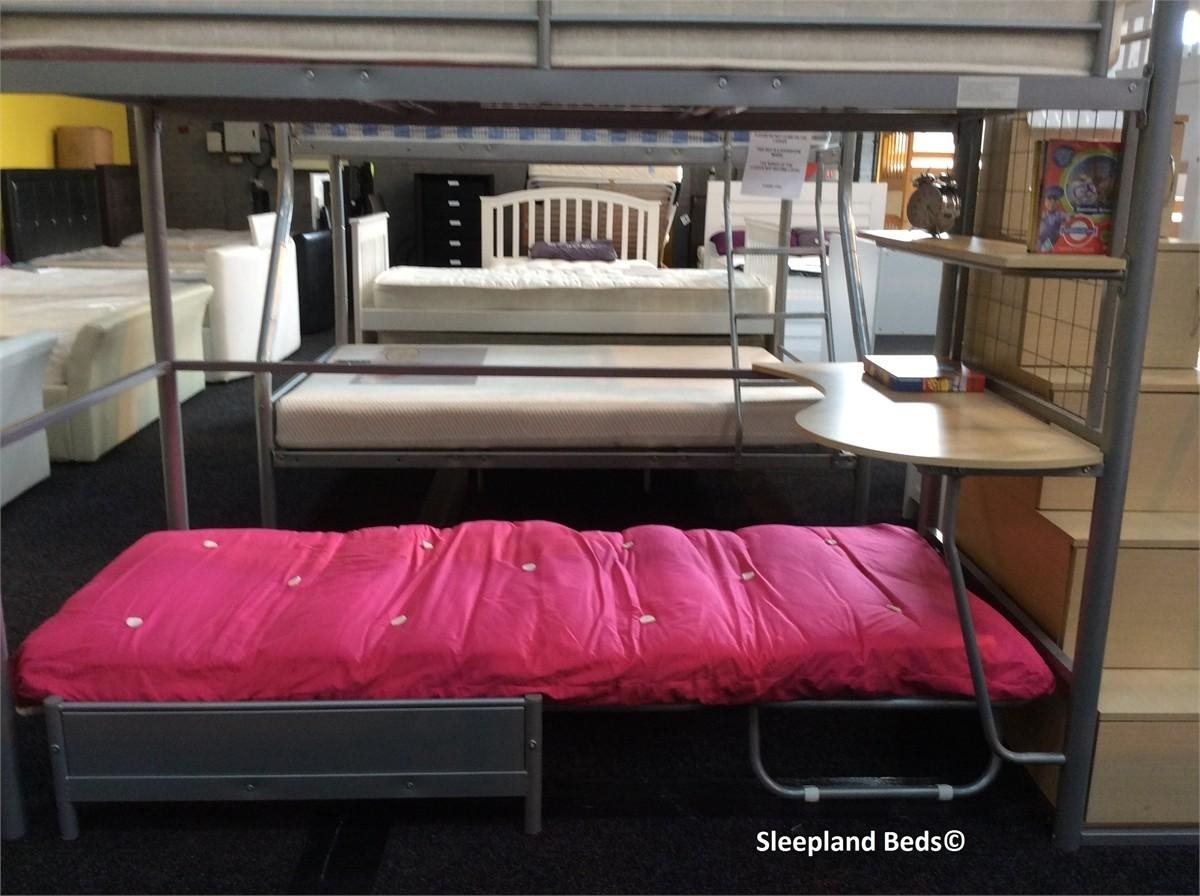 Childrens High Sleeper With Futon | Roselawnlutheran Regarding High Sleeper With Desk And Sofa (View 20 of 20)