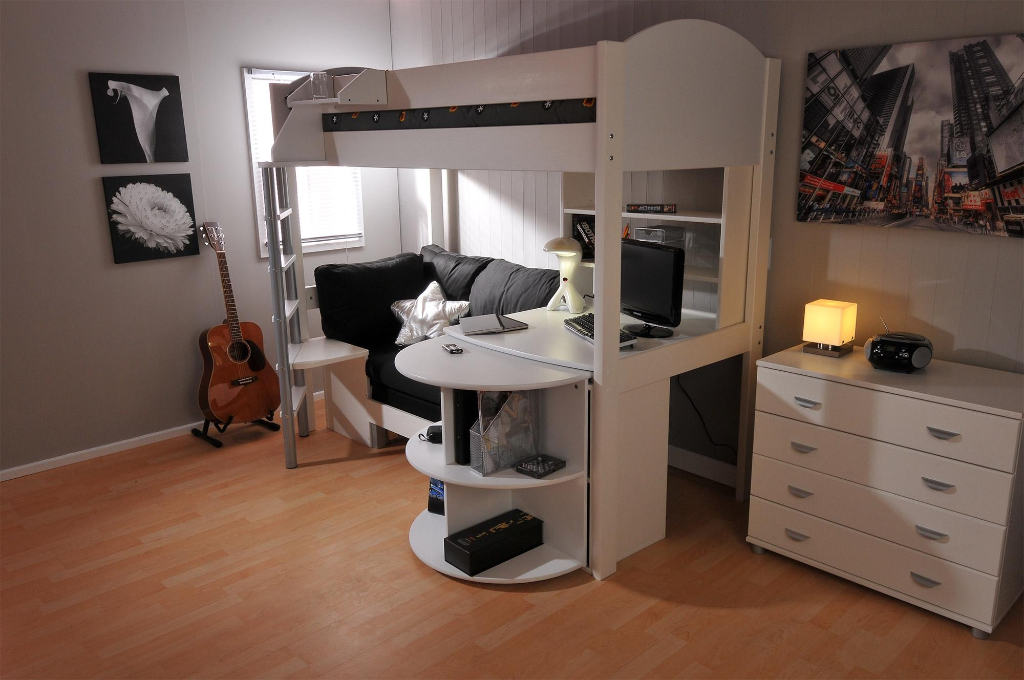 Childrens High Sleeper With Futon | Roselawnlutheran With Regard To High Sleeper Bed With Sofa (Image 3 of 20)