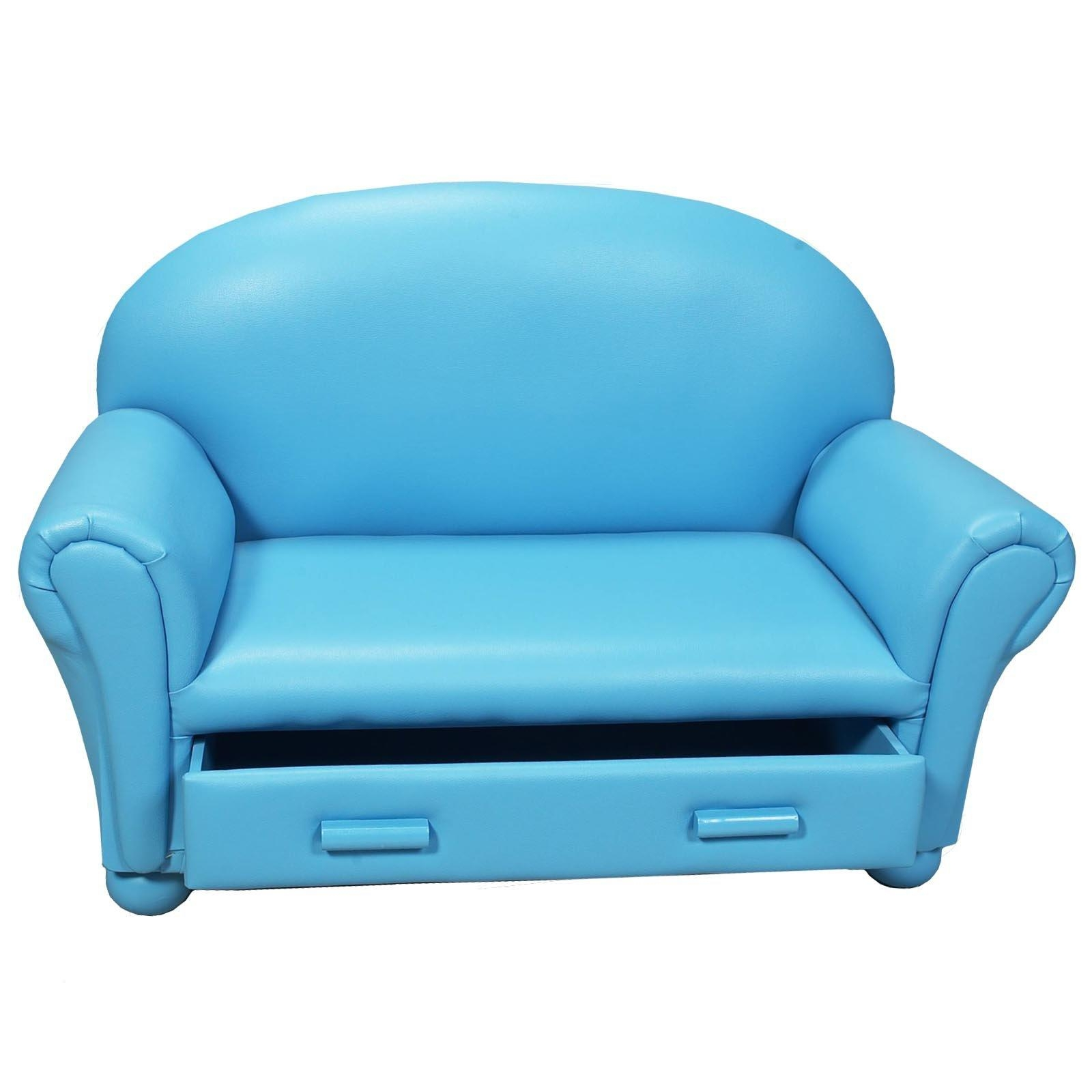 Childrens Sofa With Storage Drawer | Hayneedle With Regard To Childrens Sofa Chairs (Image 4 of 20)